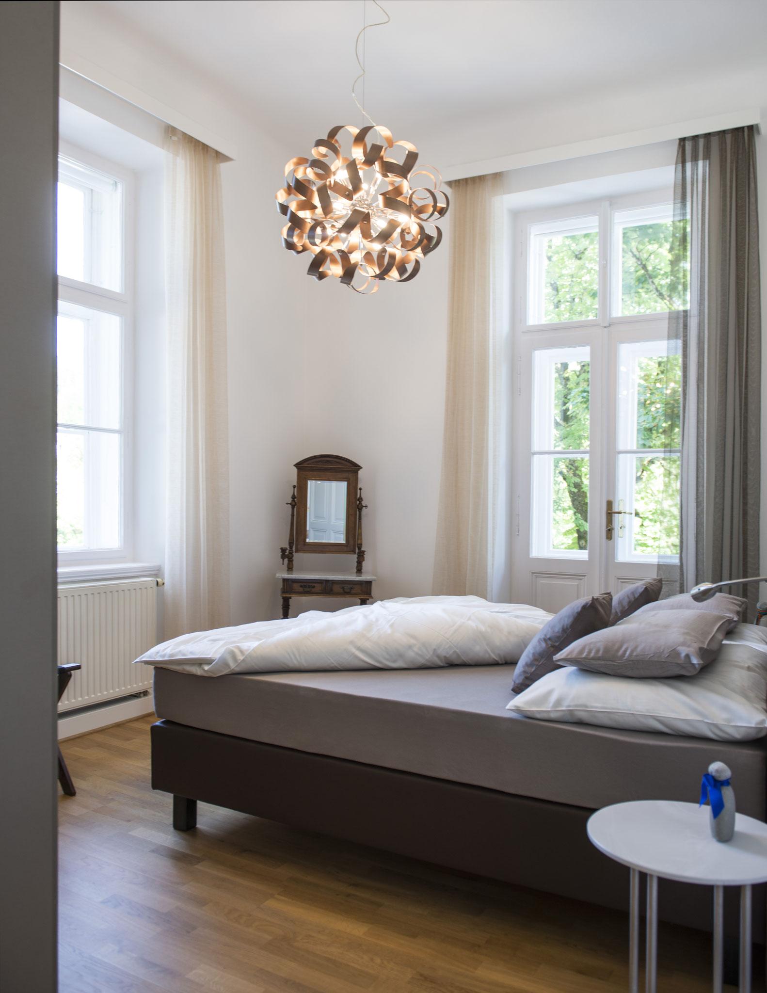 Schlafzimmer Ferienwohnung Bad Ischl