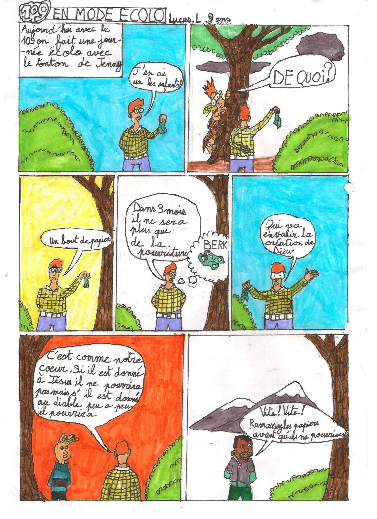 Lucas, 9 ans, Frontenex. Adaptation de la série 109