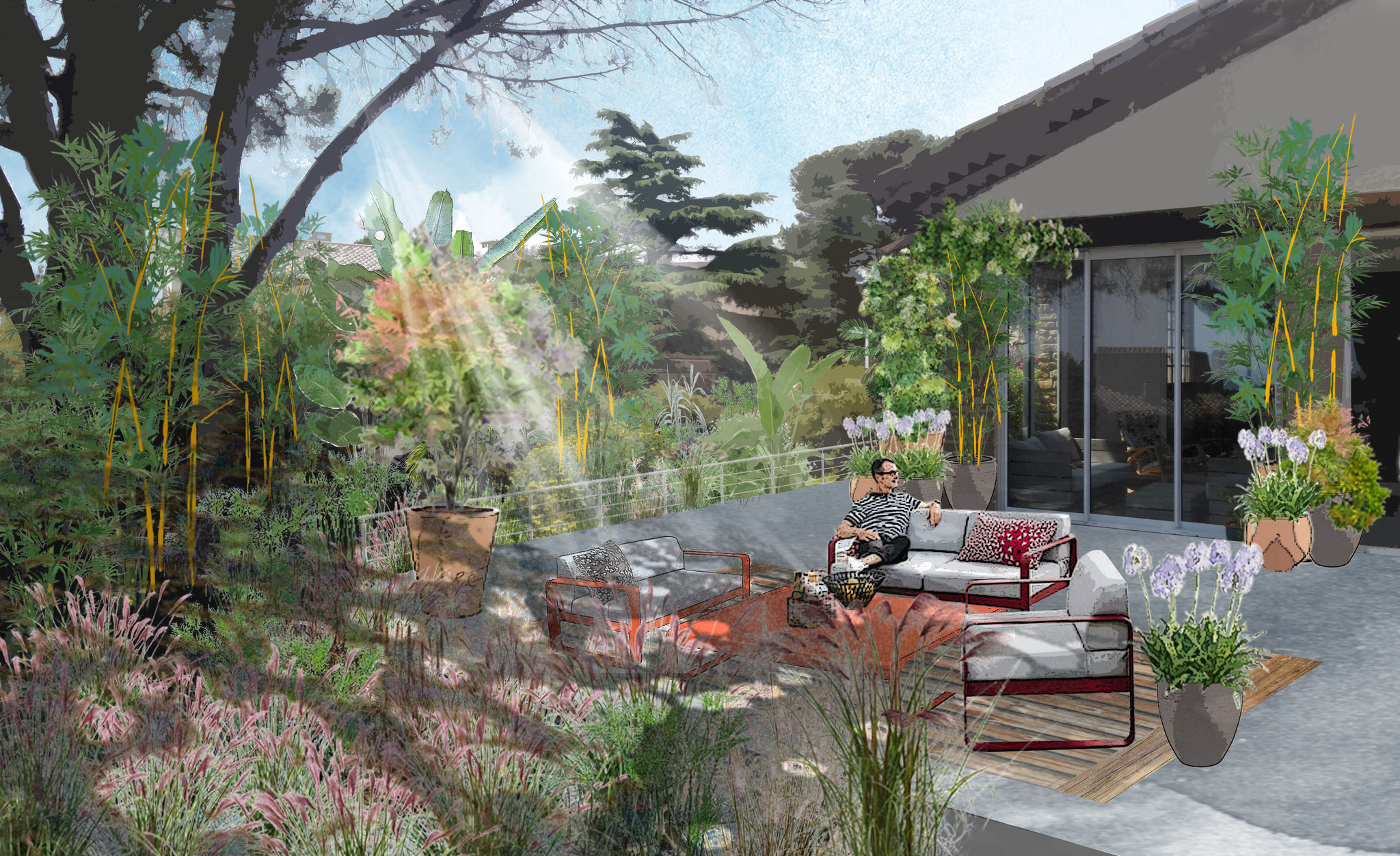 Aménagement d'un jardin près de Marseille © Rc-Paysage