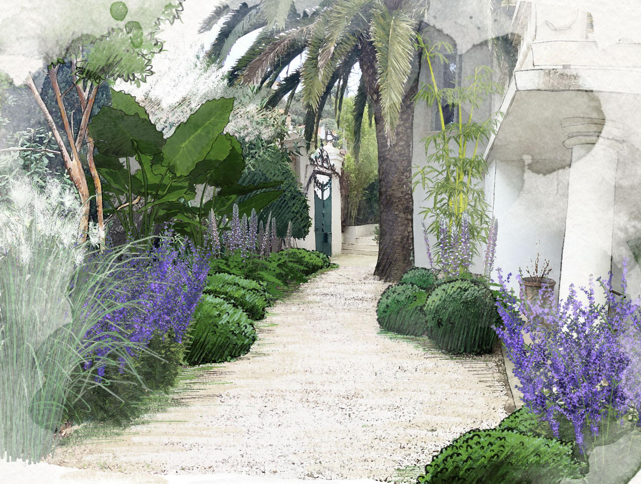 Création d'un jardin quartier Bompard à Marseille © Rc-Paysage