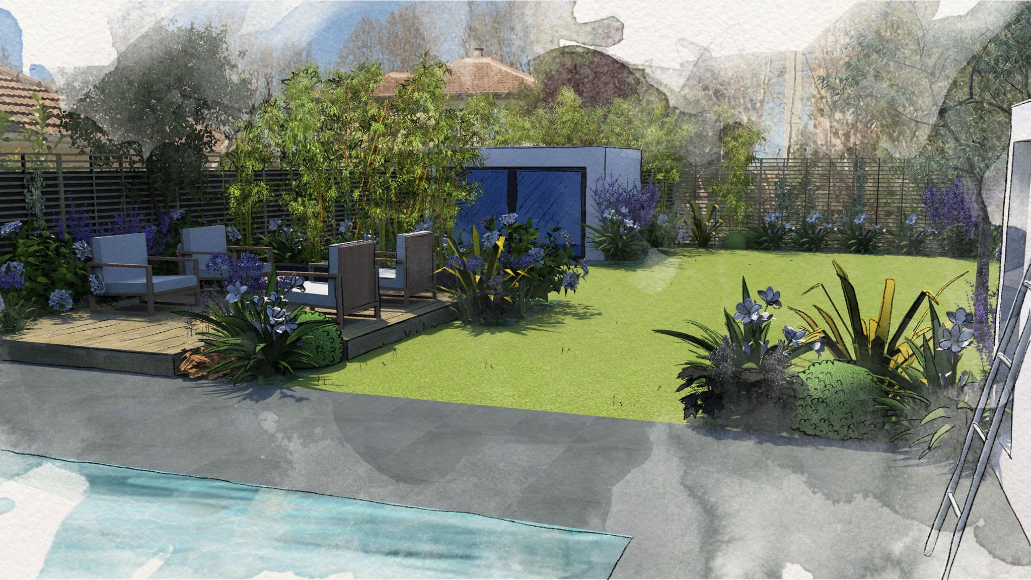 Création d'un jardin à Avignon © Rc-Paysage