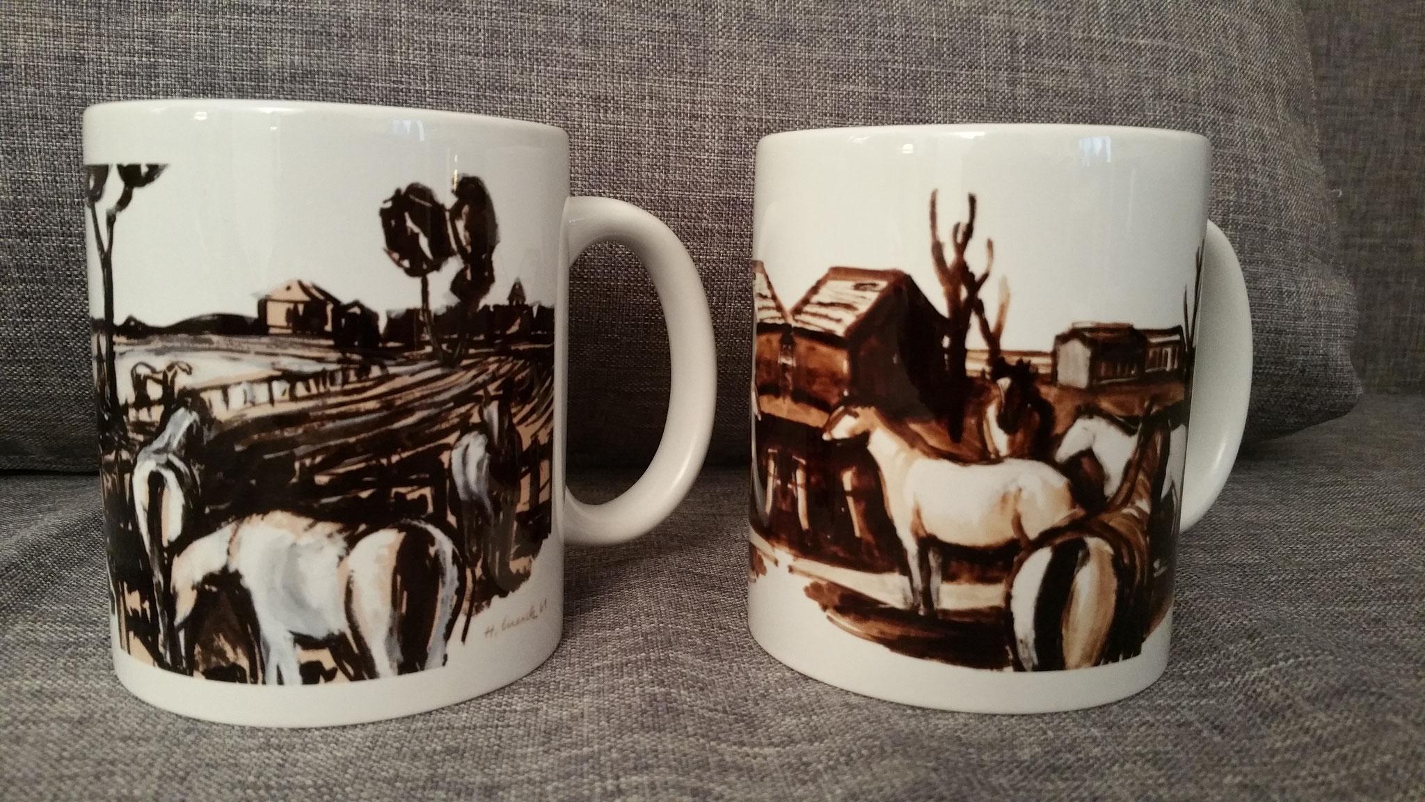 v.l.n.r.: Pferde I und Pferde II
