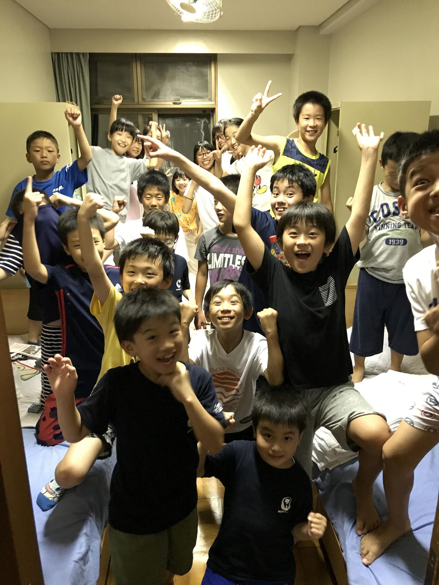 名空会合宿 北方町空手クラブの参加者