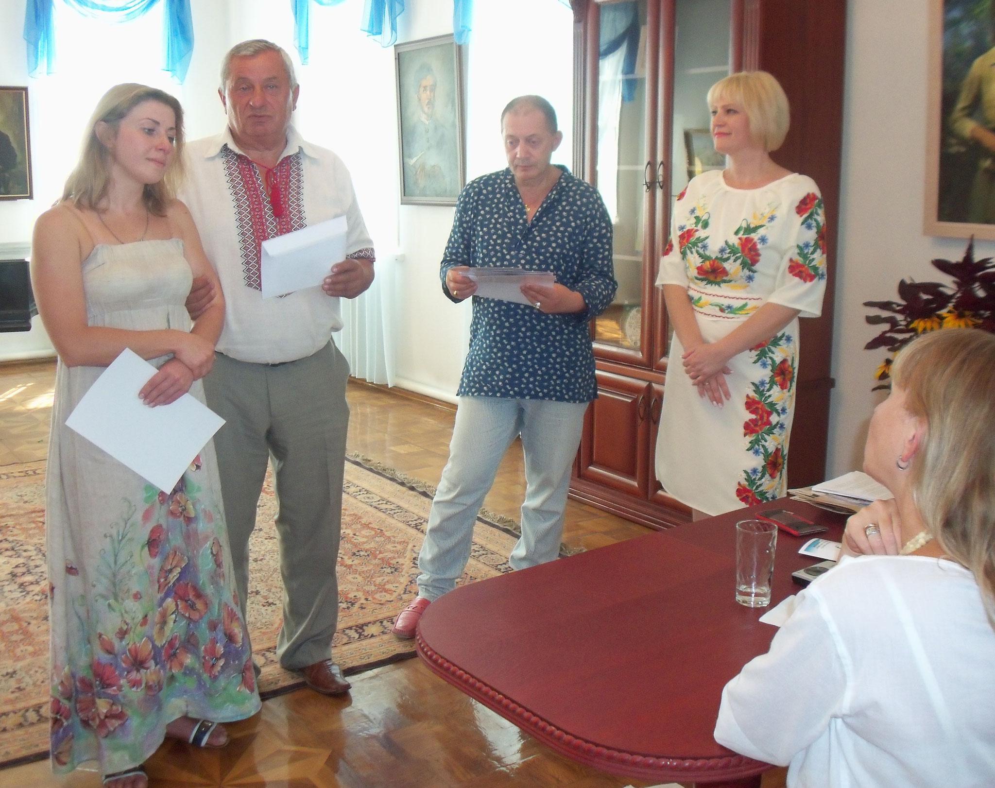 Біла Олена отримала спеціальну премію від засновника конкурсу Мартинюка М.І.