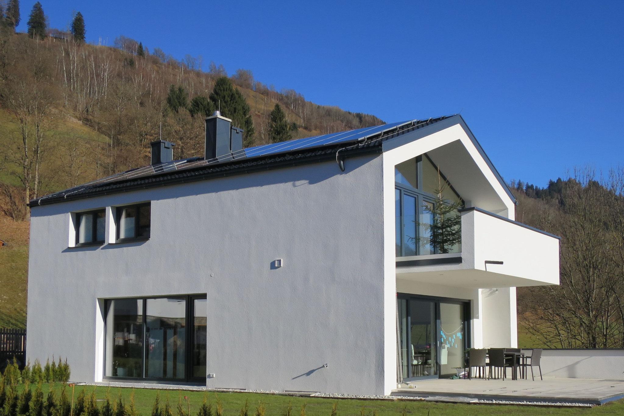 Einfamilienhaus in Niedernsill 2016 Gartenansicht