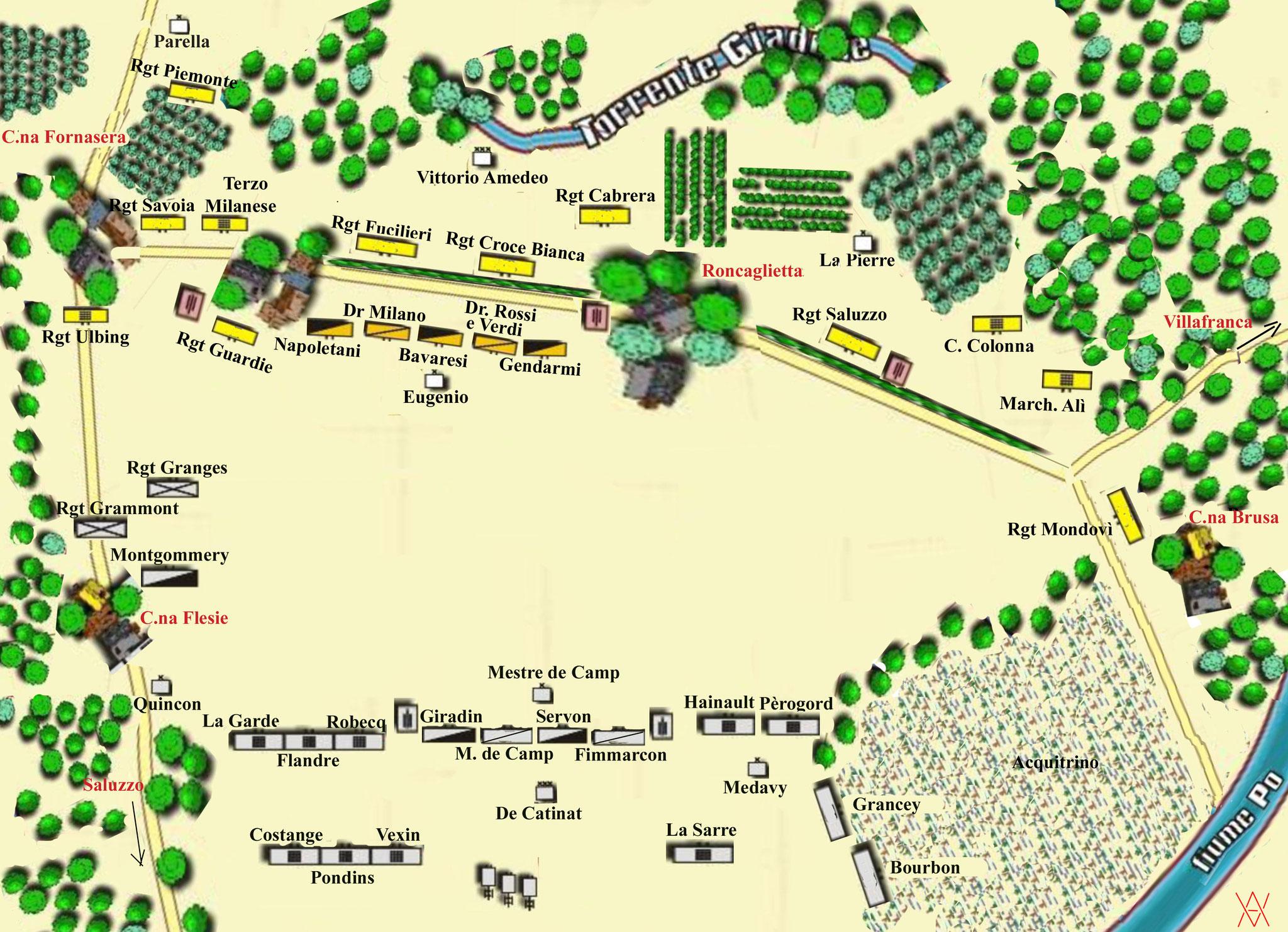 La mappa della battaglia (bravo Adriano!)