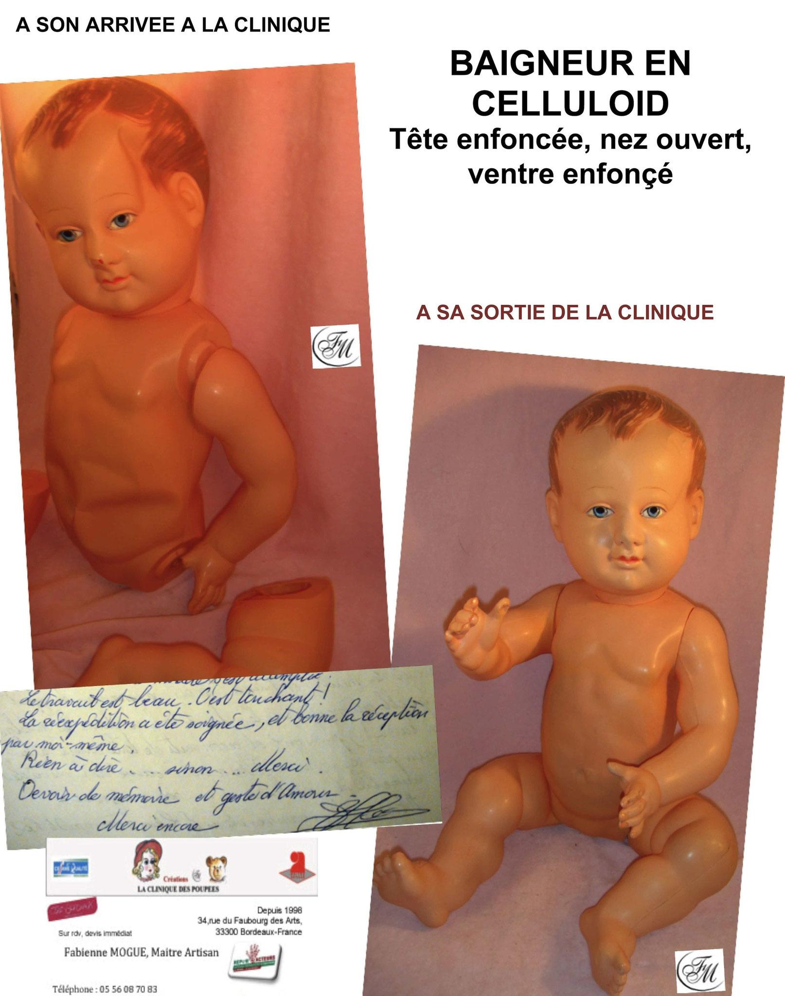 Baigneur en celluloid de La clinique des poupées - Bordeaux