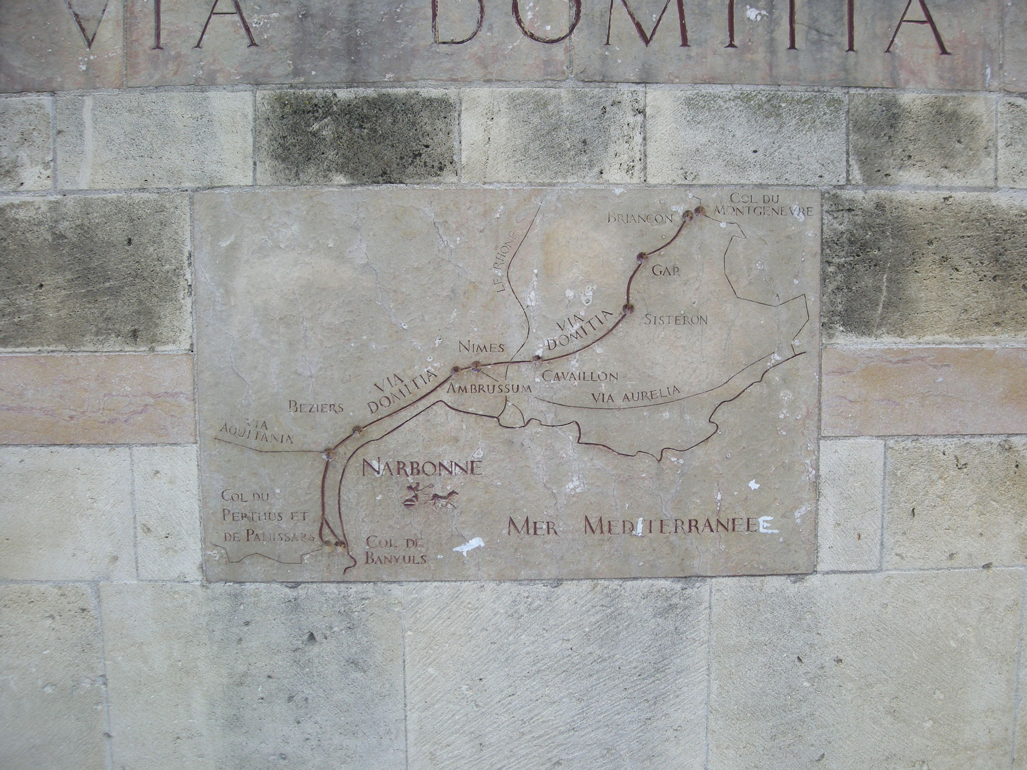 Carte de la Via Domitia