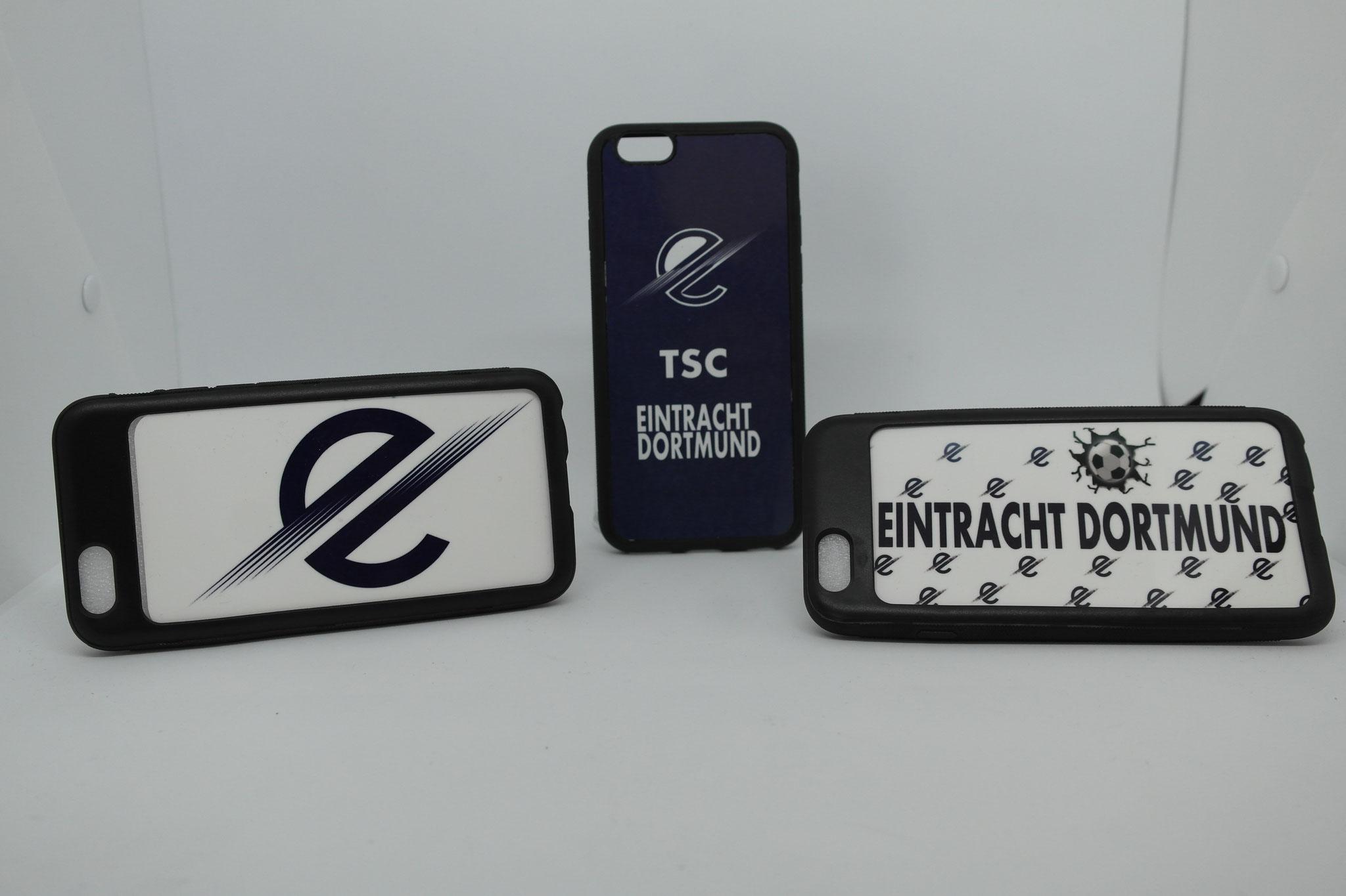 Handyhüllen mit Vereinsname, Logo, Trikotnummer oder Initialen
