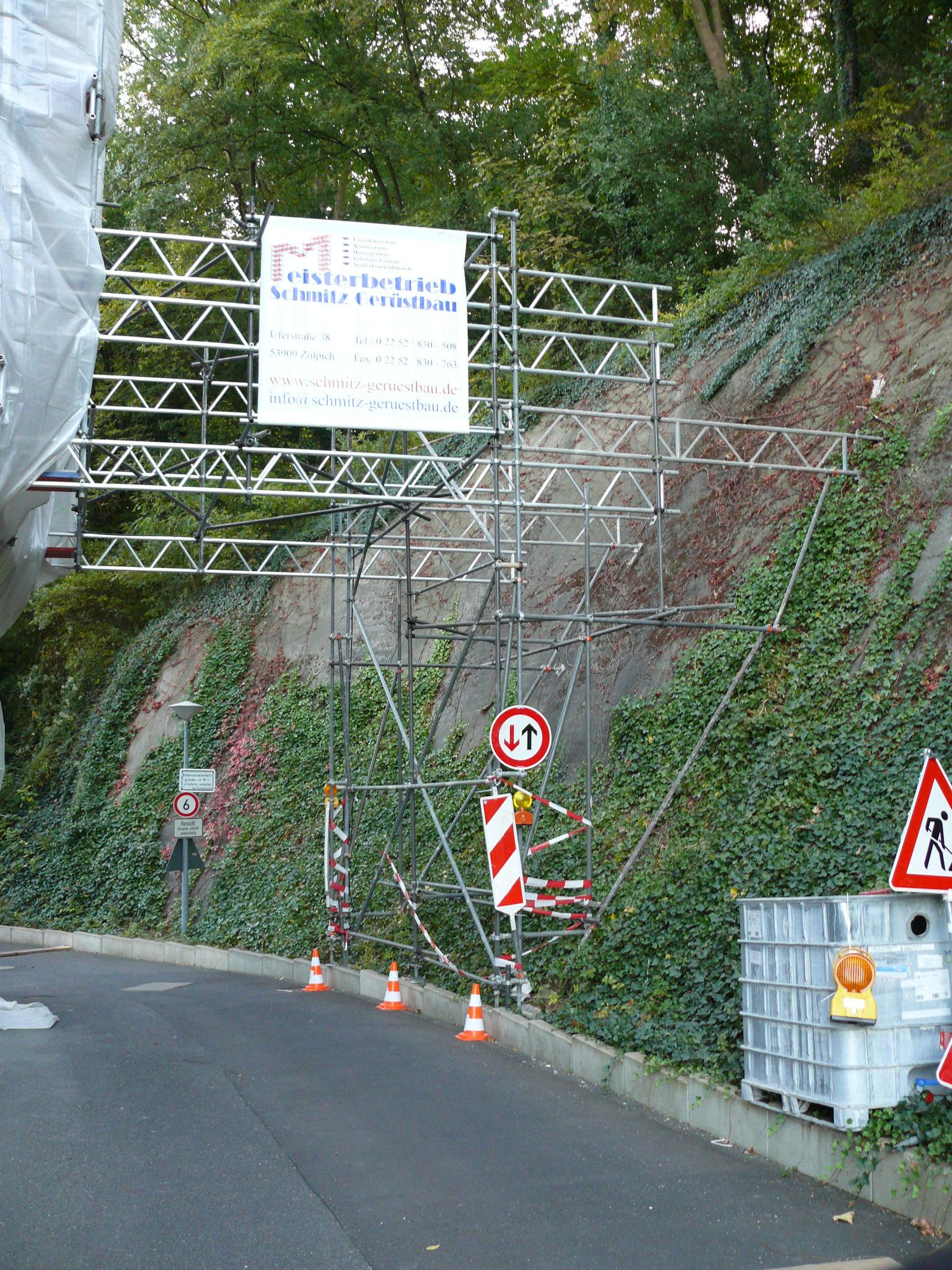 Überbrückung der Durchfahrt