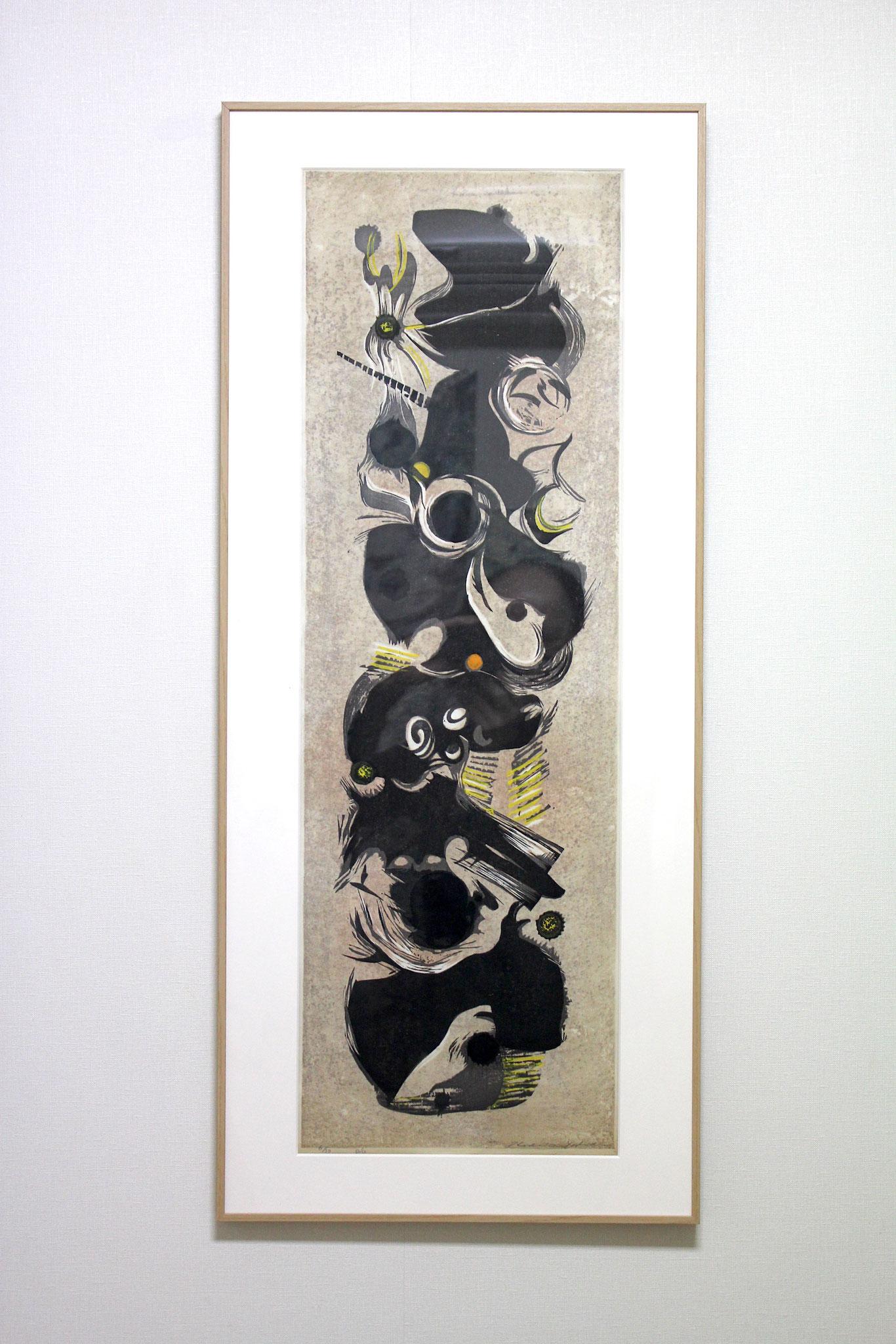 Hodaka Yoshida   /  吉田穂高 ポール(柱) 木版画、紙