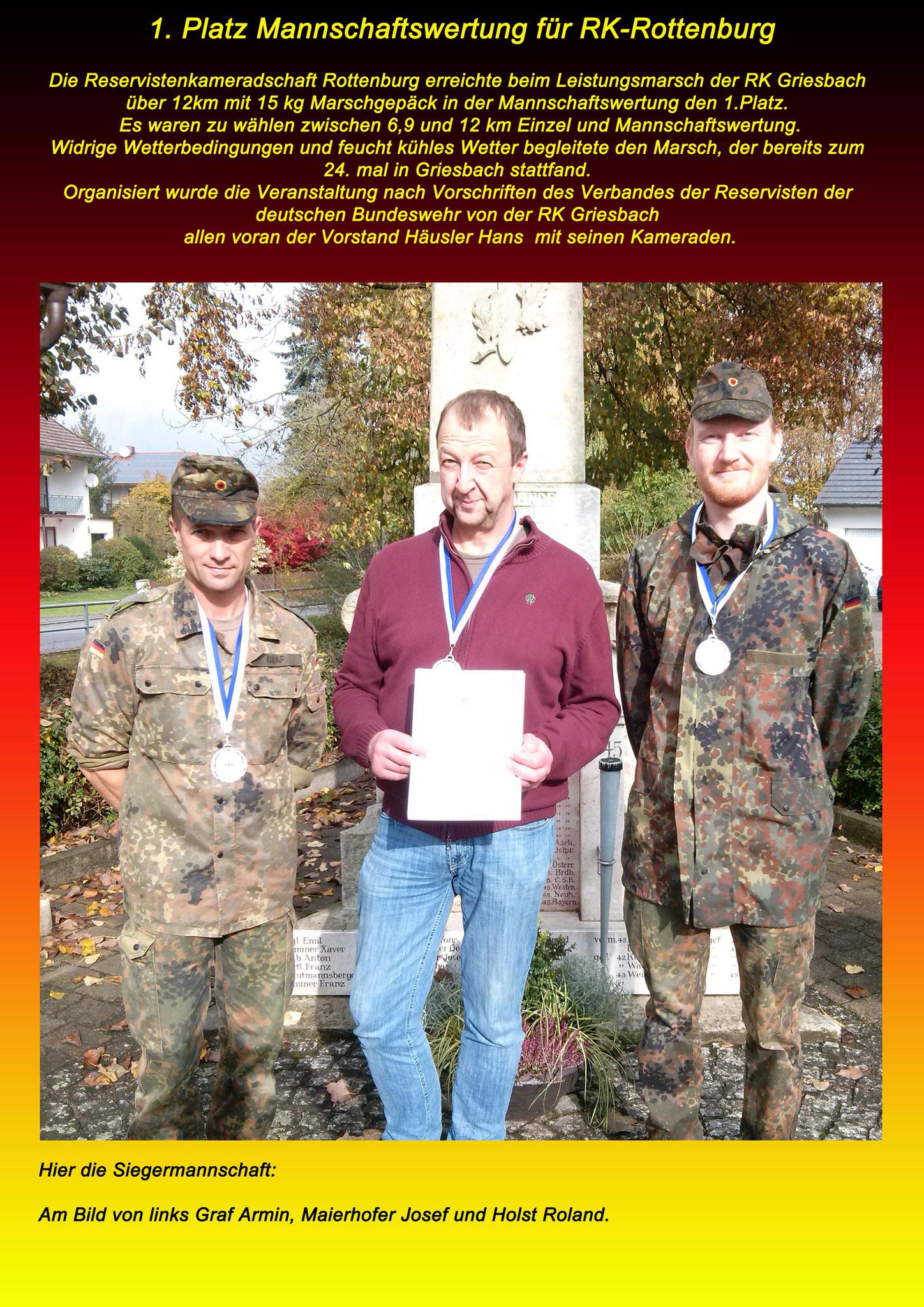 Leistungsmarsch am 29.10.16 in Griesbach