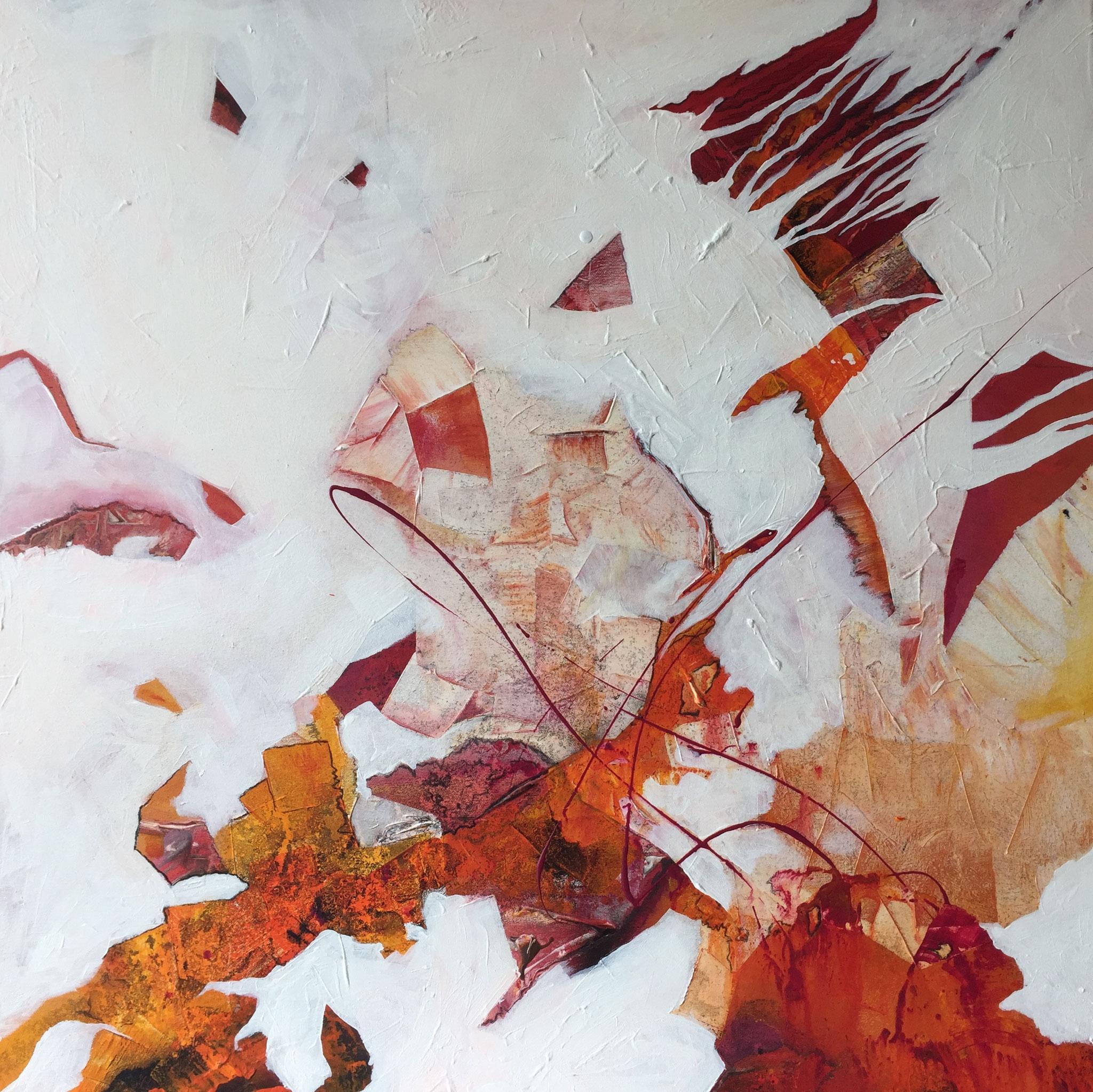 Auflösung, Acryl auf Leinwand, 70 x 70 cm
