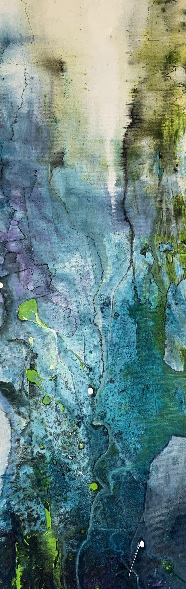 Im Riff, Acryl auf Leinwand, 80 x 30 cm