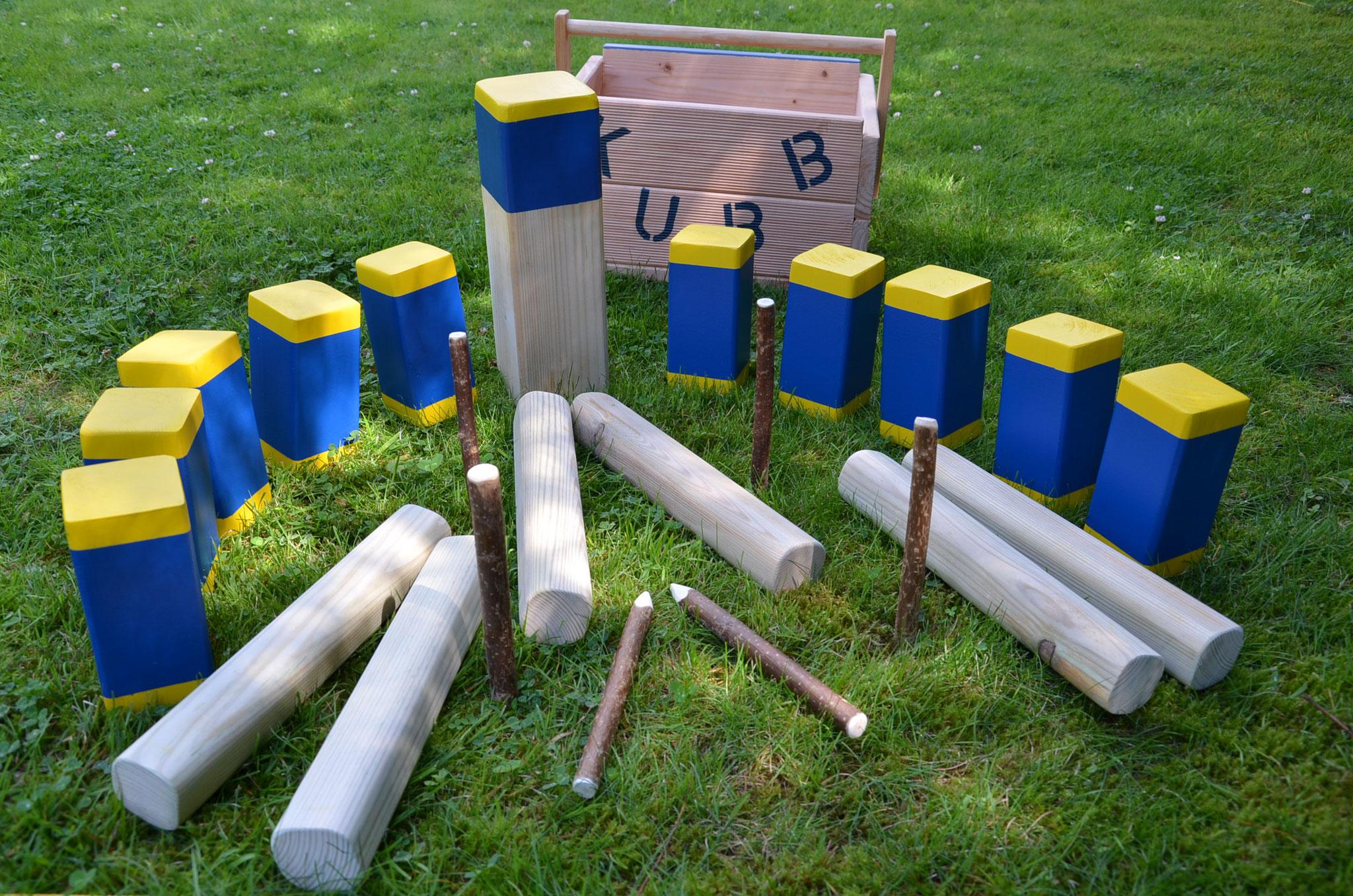 Meine Outdoorspiele: Kubb Schweden