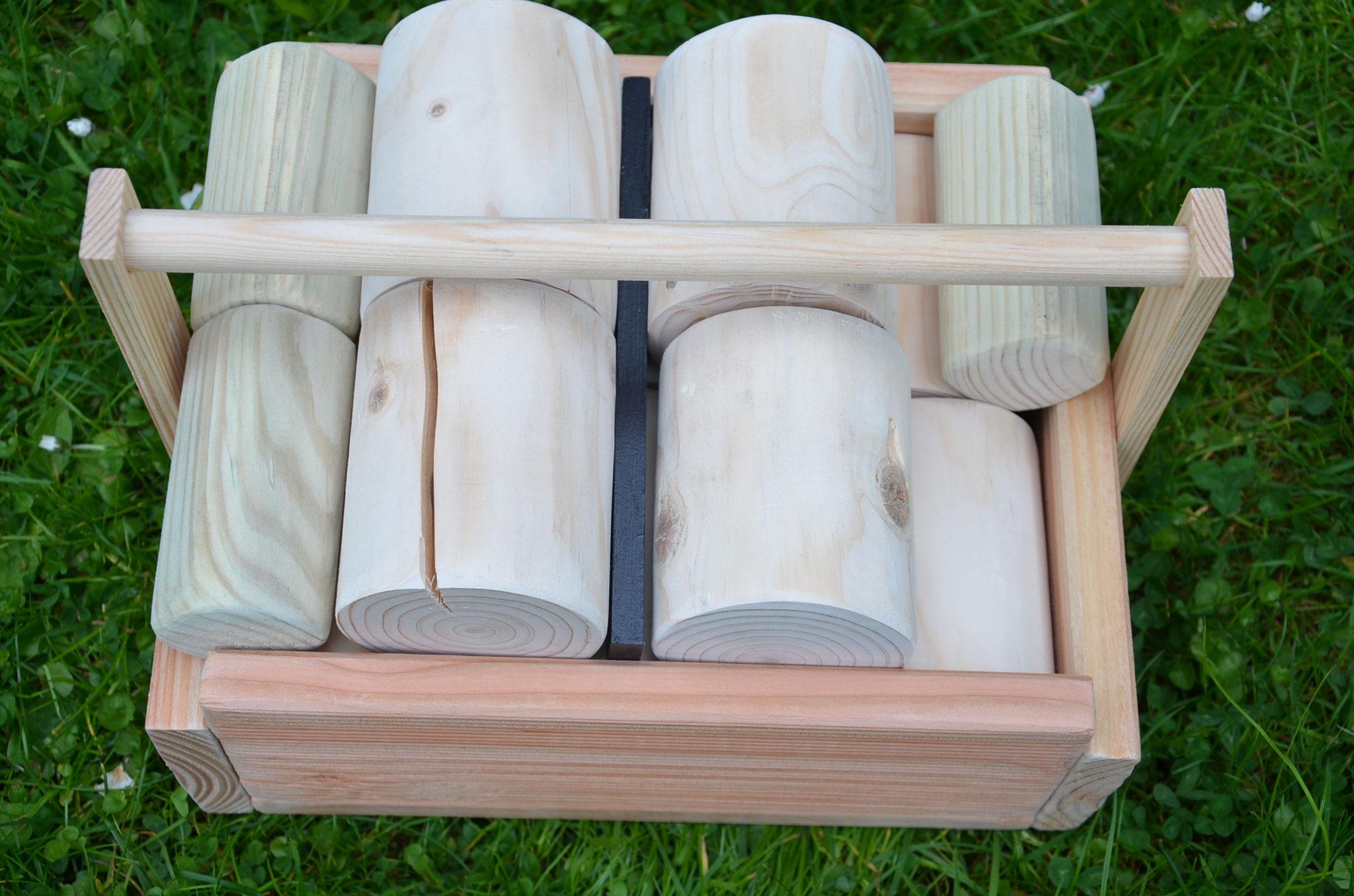 Meine Outdoorspiele: Holzdosenwerfen klein