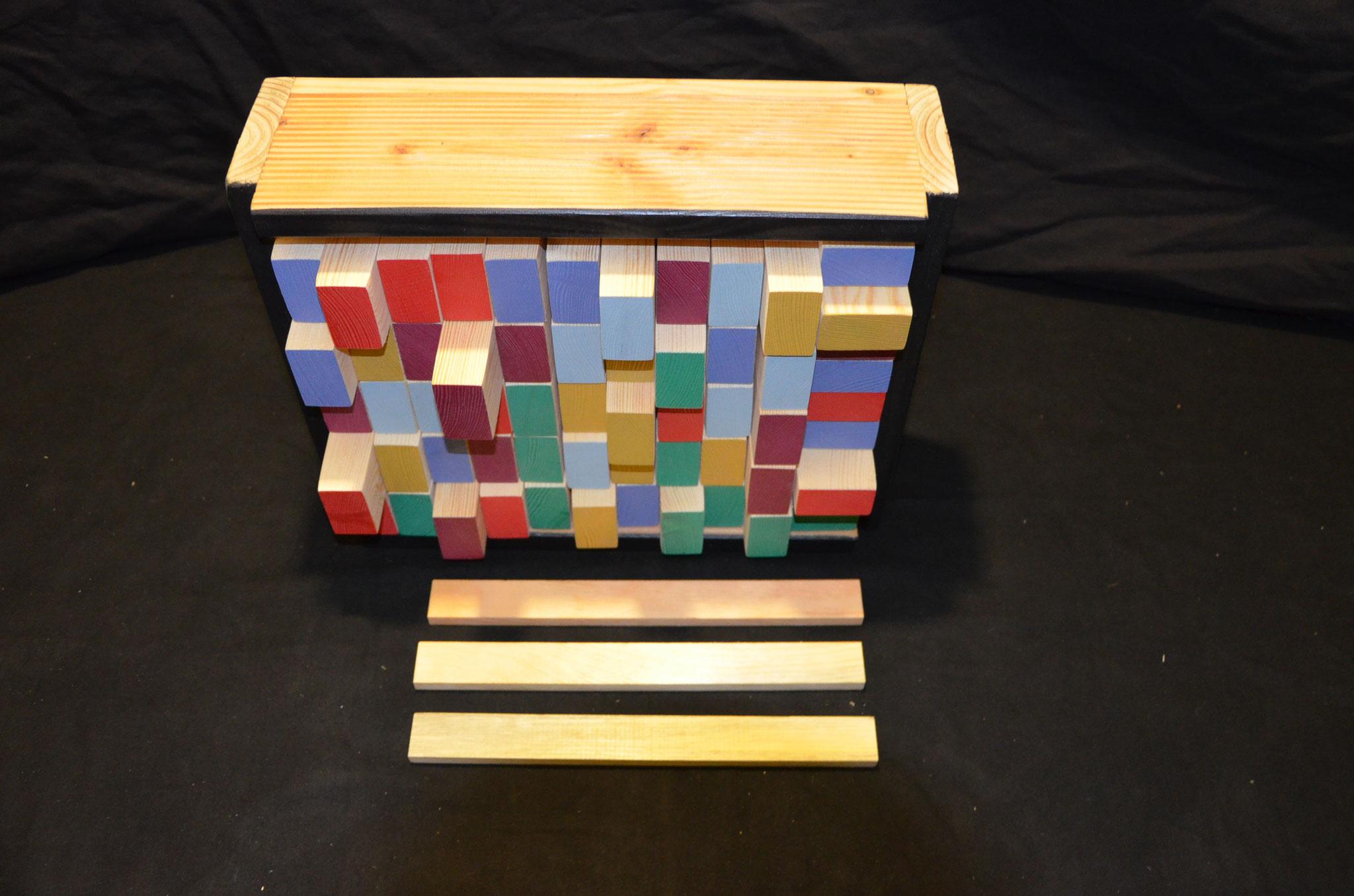 Domino-Holz-Spielebox bunt