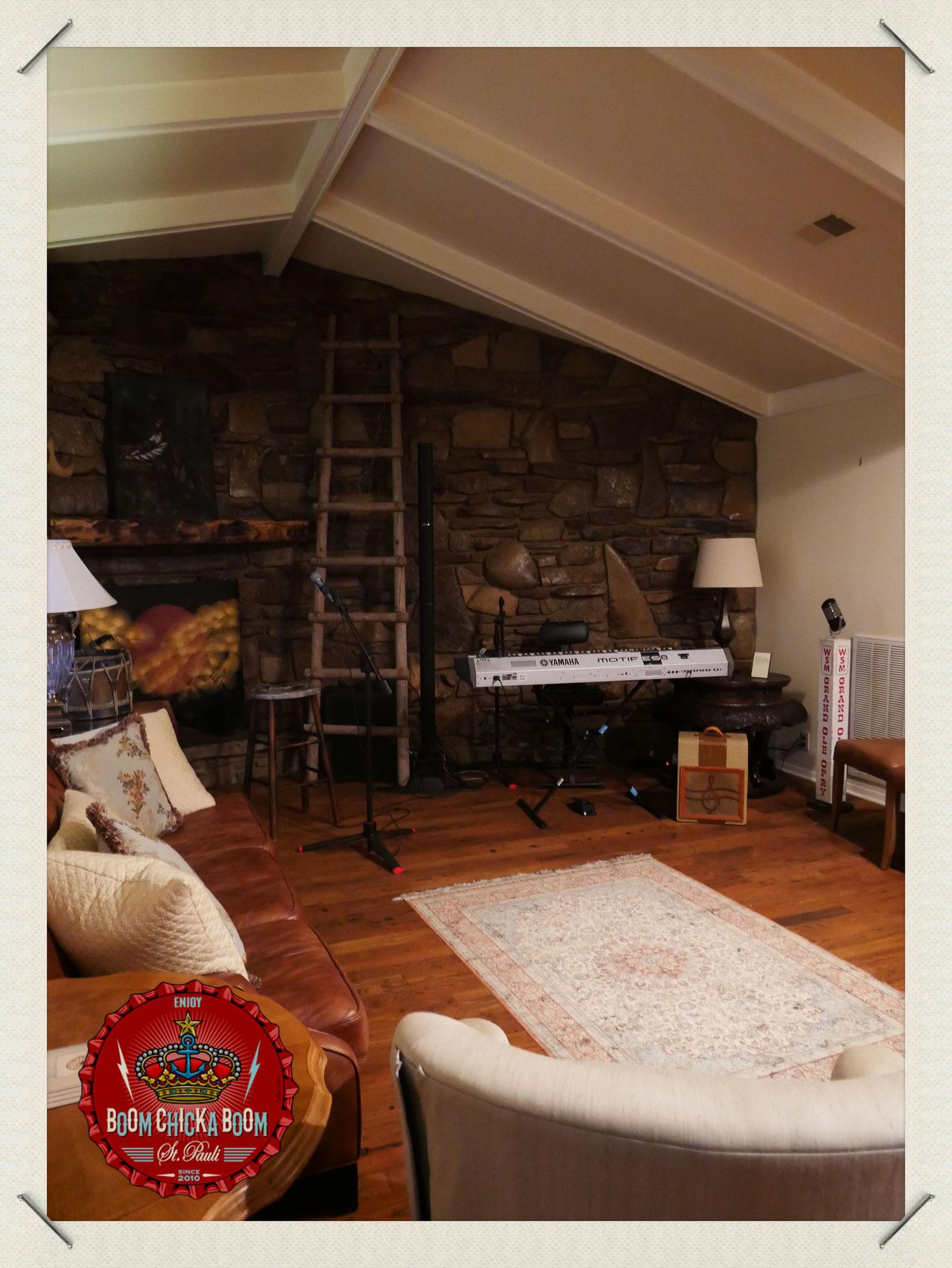 An dieser Wand nahm Johnny den Rest der Recordings auf, da er zu schwach war in seinem Haus zu wohnen.