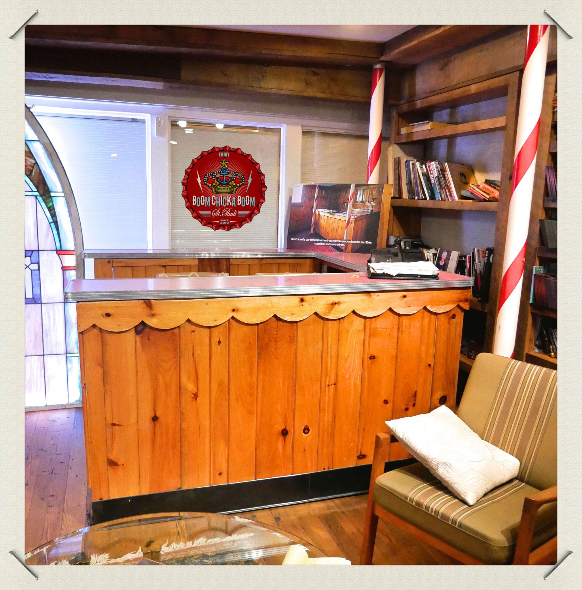 Diese Bar stammt von Cornel Parker und gehörte Elvis.