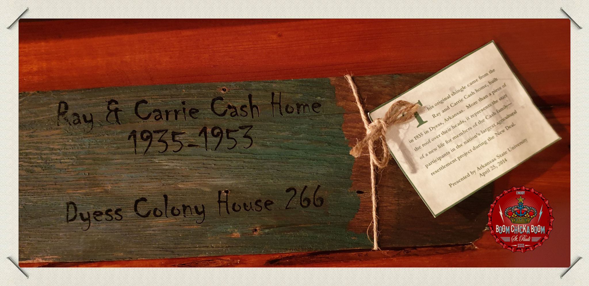 Die Hauszuweisung der Familie Cash aus Dyess 1935