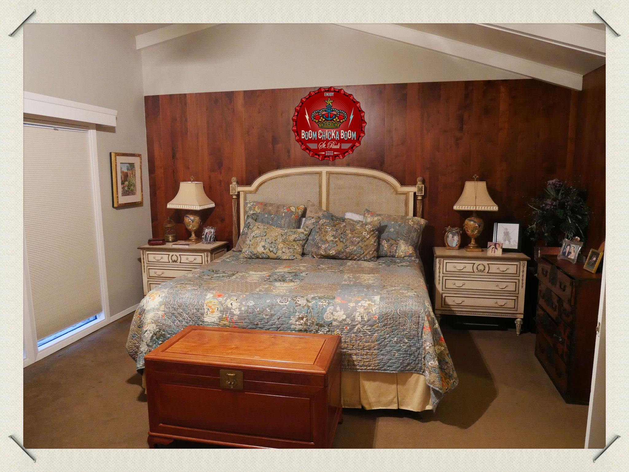 In diesem Bett lagen June und Johnny bis kurz vor ihrem Tode.