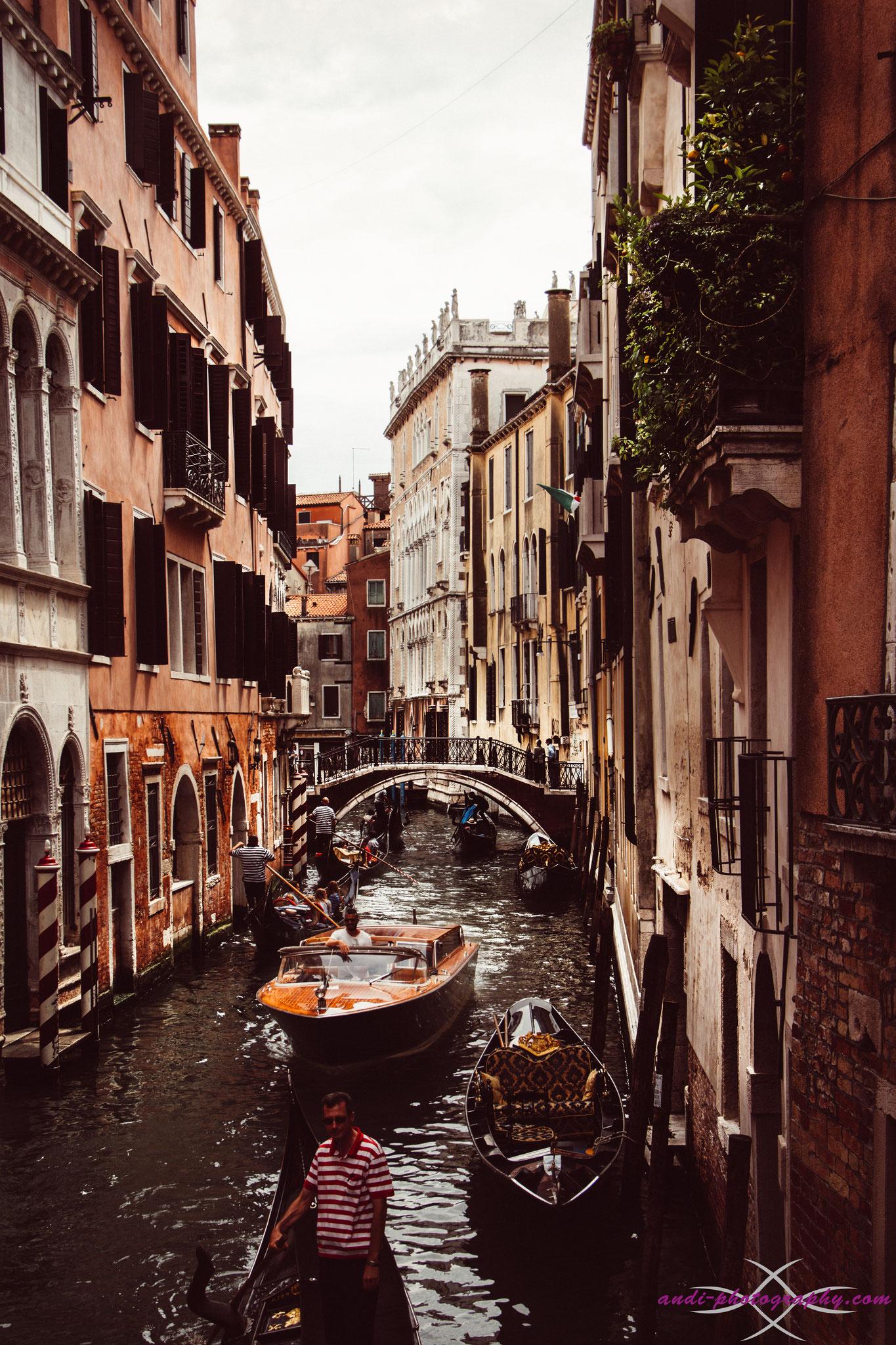 Wasserstrasse in Venedig 2016