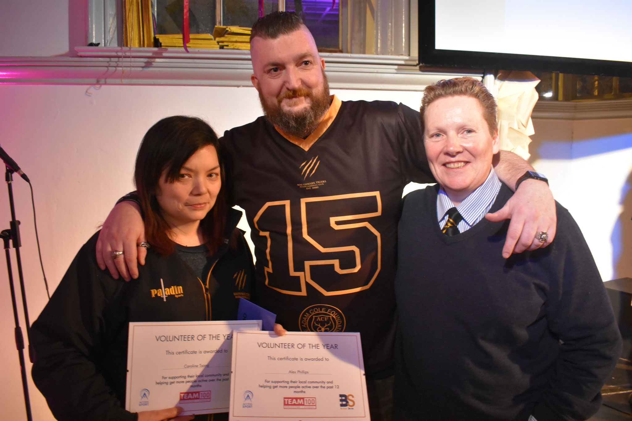 Carolline Tsang and Alex Phillips Southwark Tigers Volunteer of the year