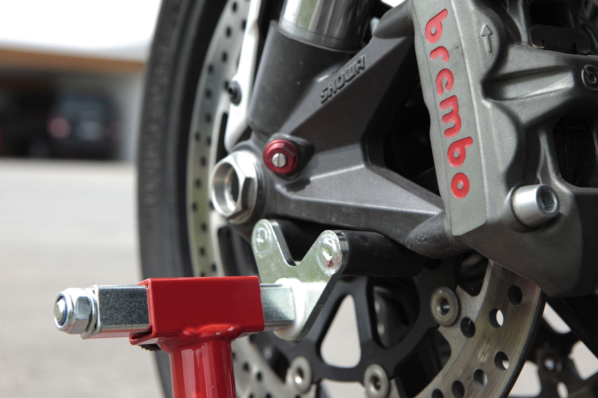 Detail Frontständer Motorrad