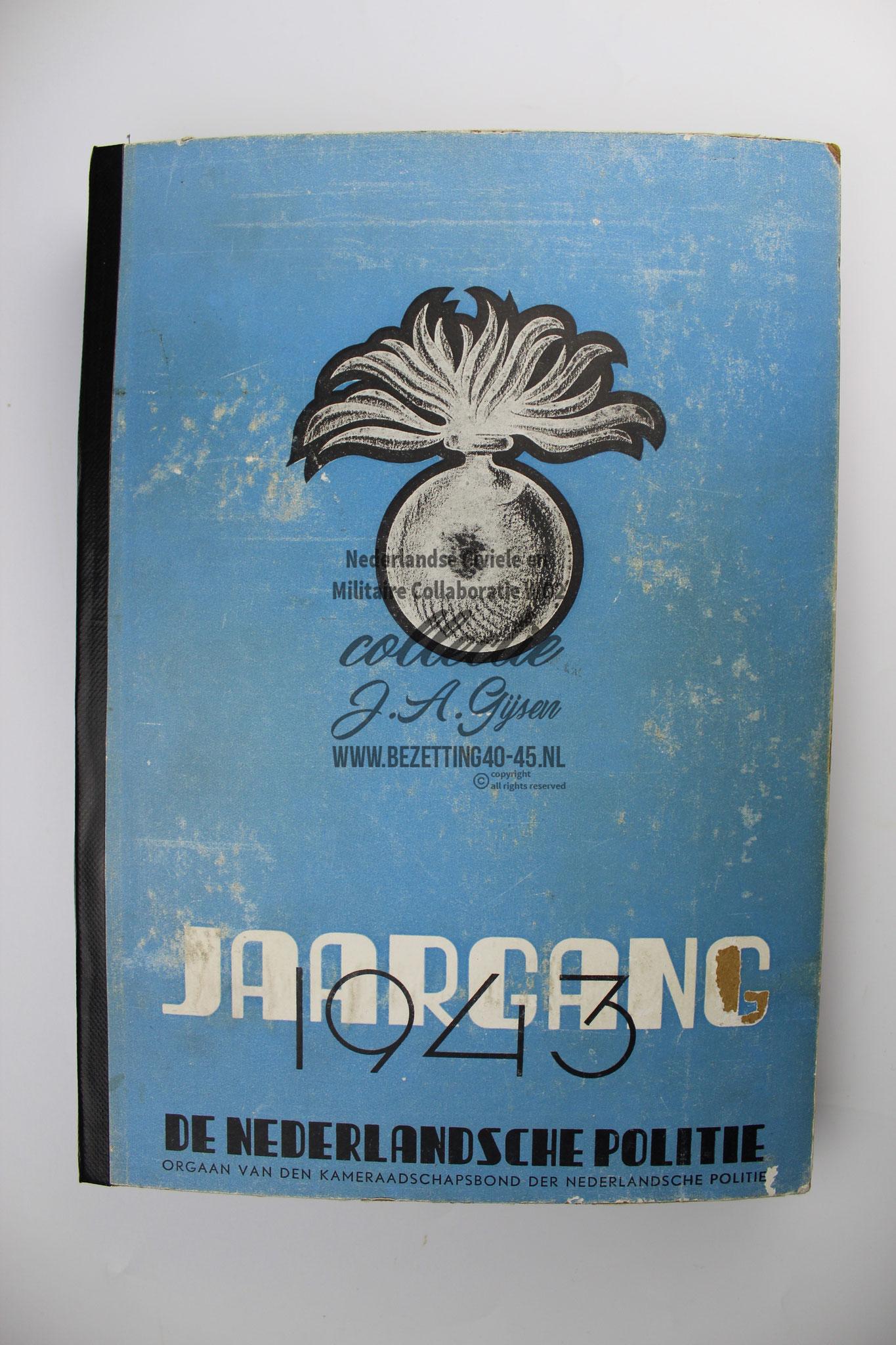 Politieblad Jaargang 1943 (26 delen ingebonden)  Staatspolitie Schalkhaar SD SS