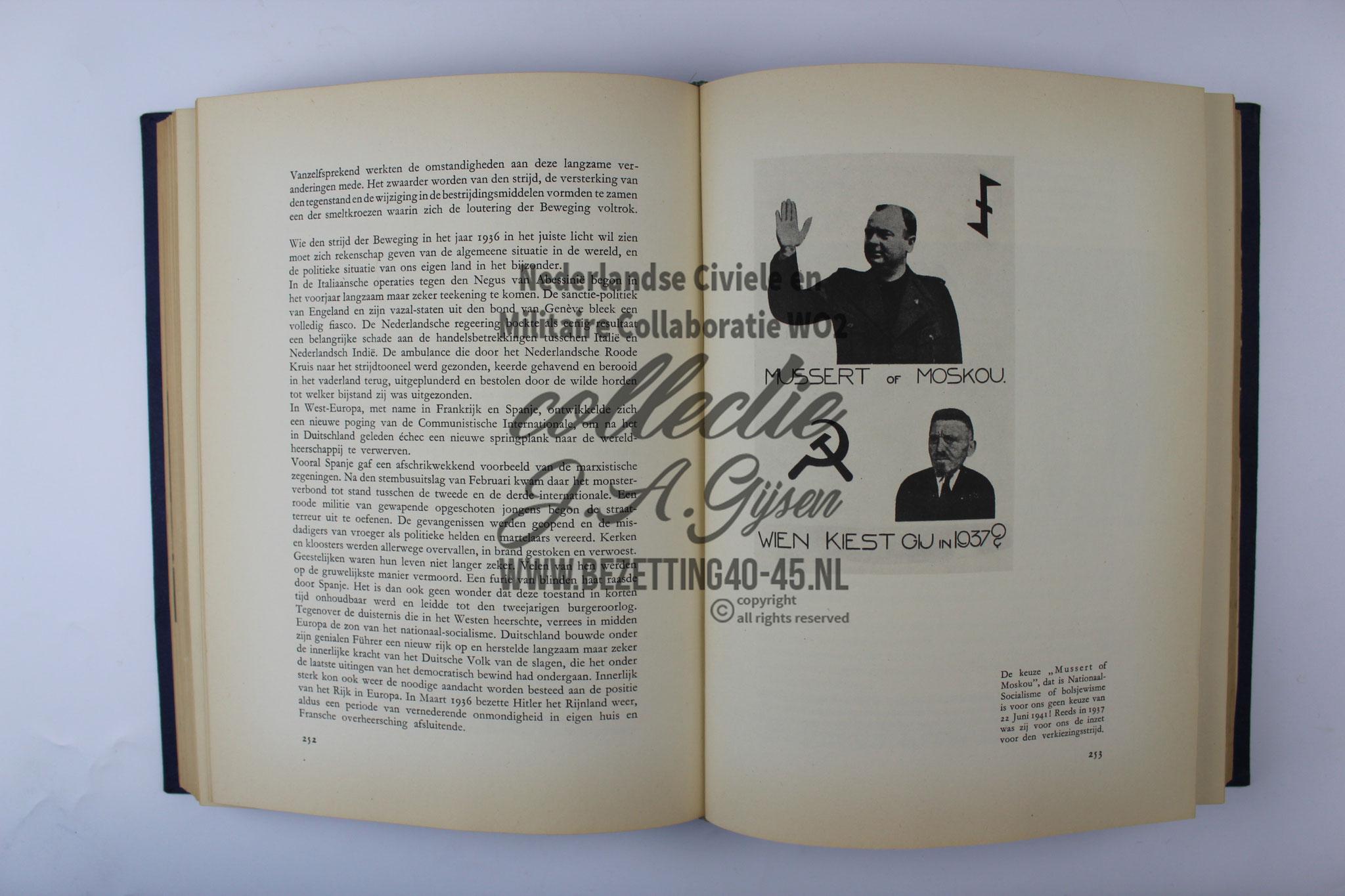 Voor Volk en Vaderland , Tien jaren strijd Nationaal-Socialistische Beweging Mussert NSB