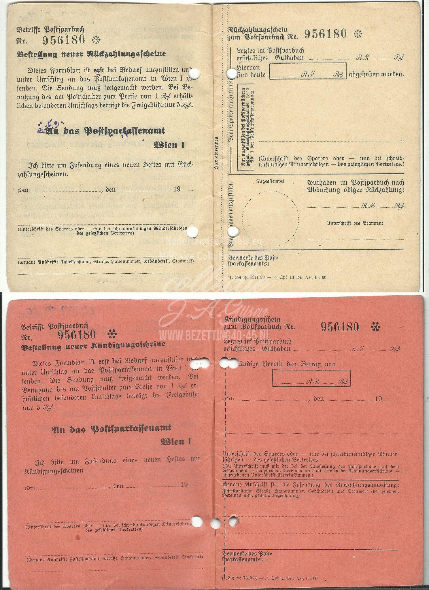 Deutsche Reichspost Rückzahlungsscheine Kündigungsscheine.