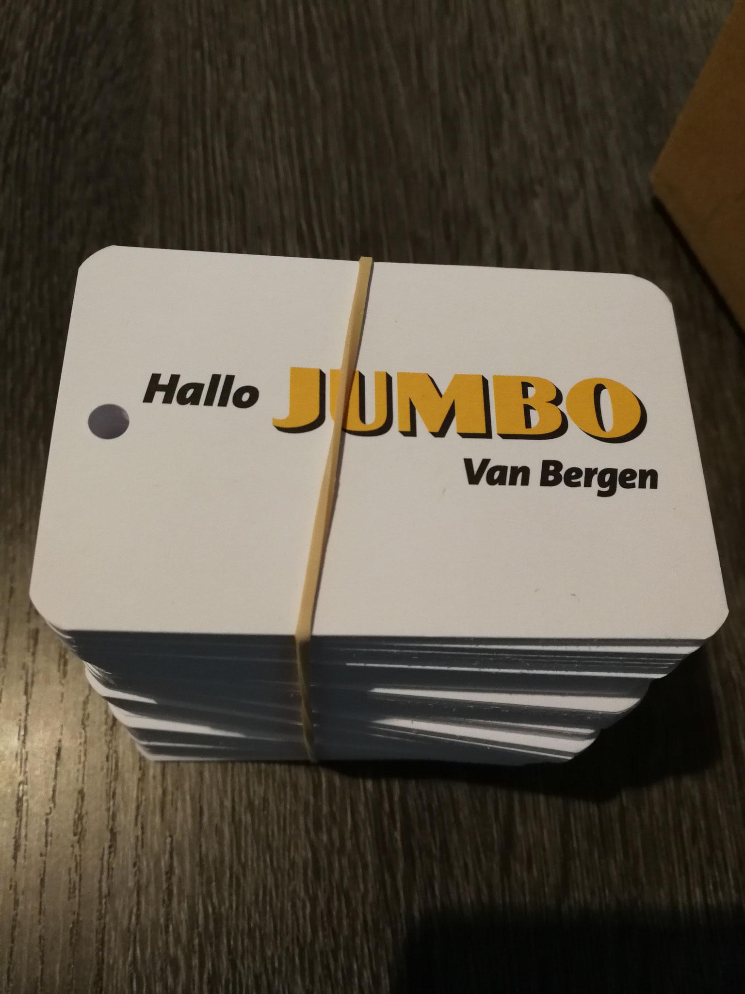 Bloemenkaartjes Jumbo van Bergen - Oss