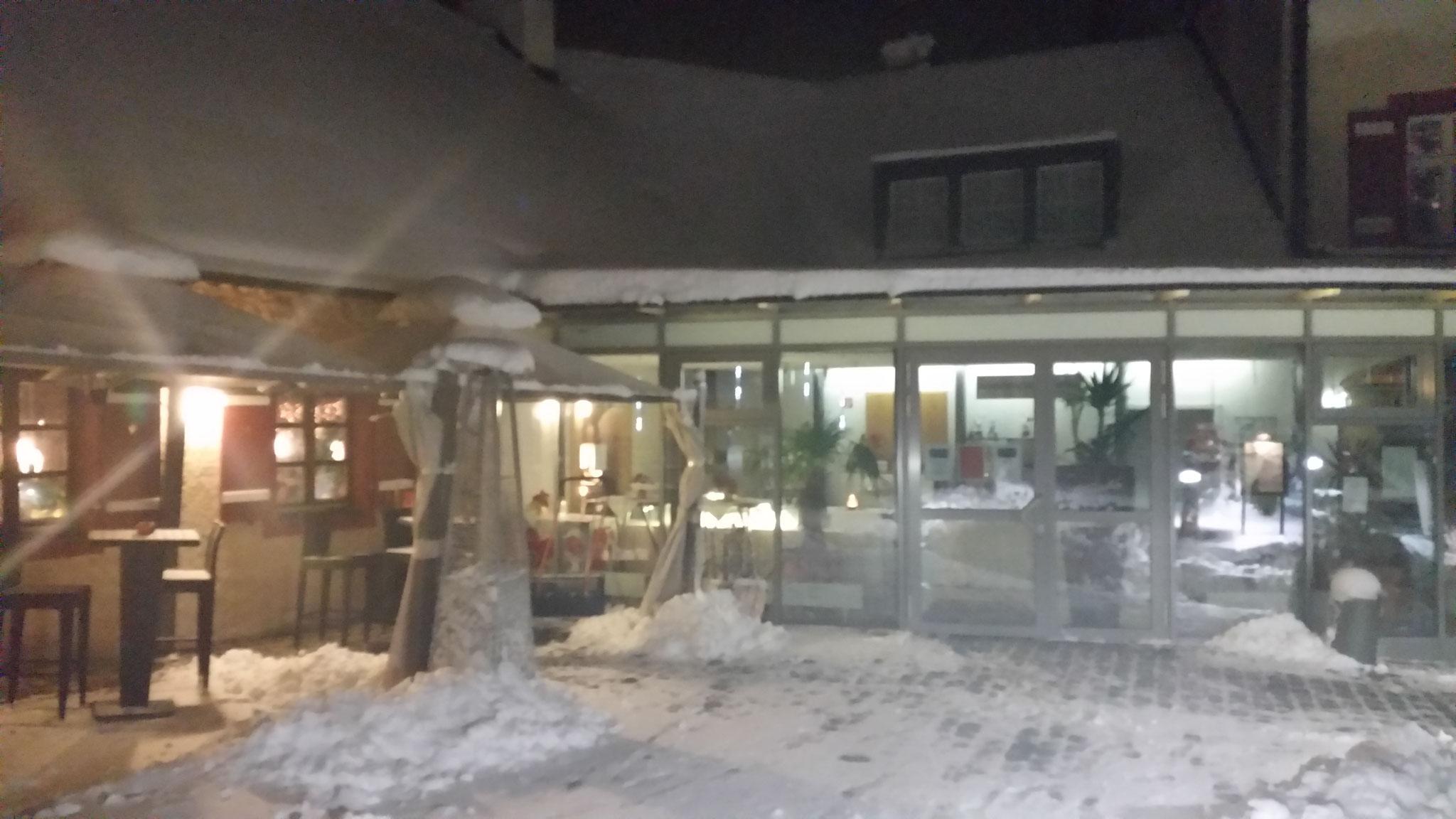 Restaurant Touché Burg Hartenstein Schnee