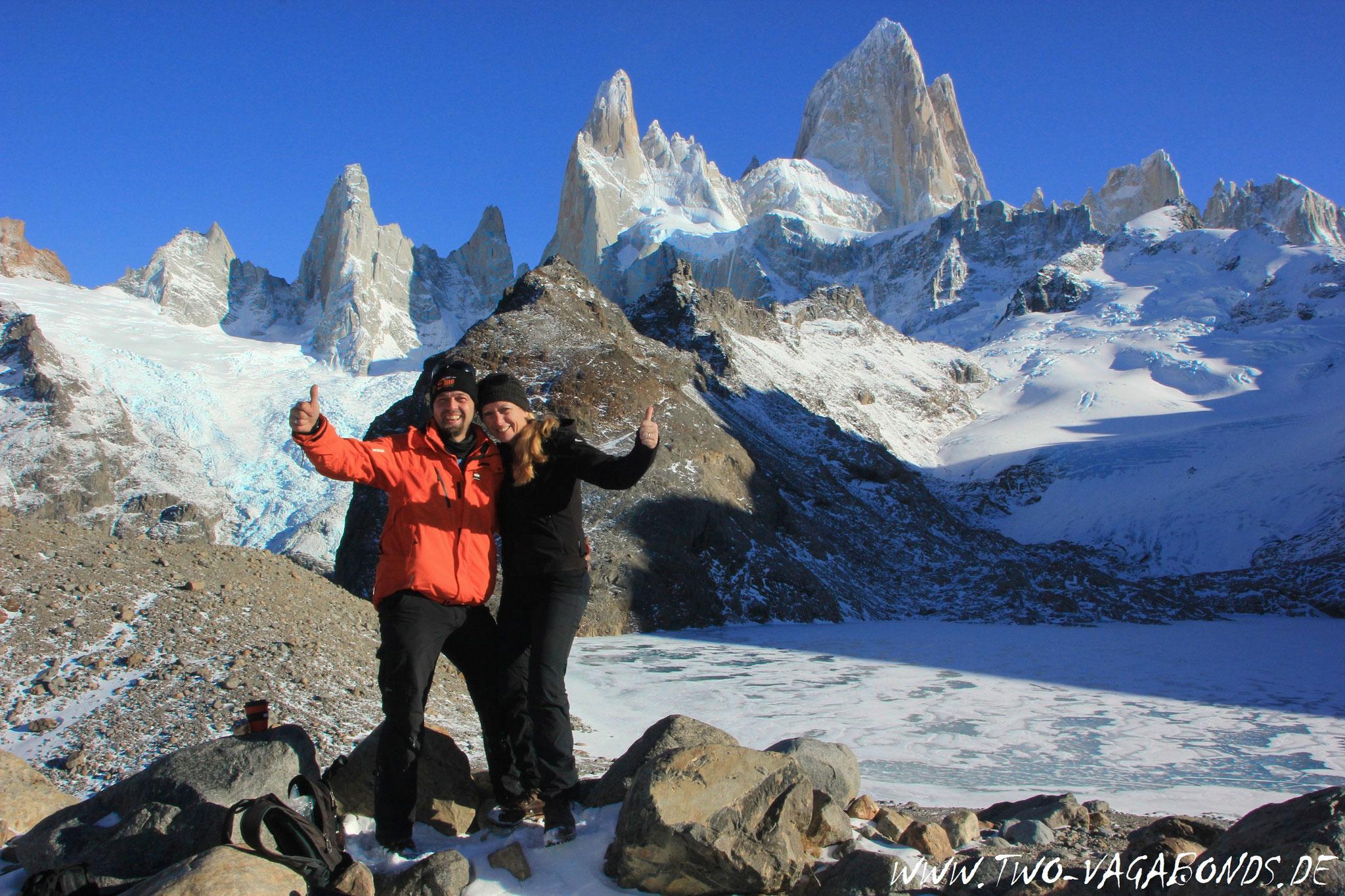 ARGENTINIEN 2016 - PATAGONIEN - 20 km WANDERUNG ZUR LAGUNA DE LOS TRES / FITZ ROY BERGMASSIV