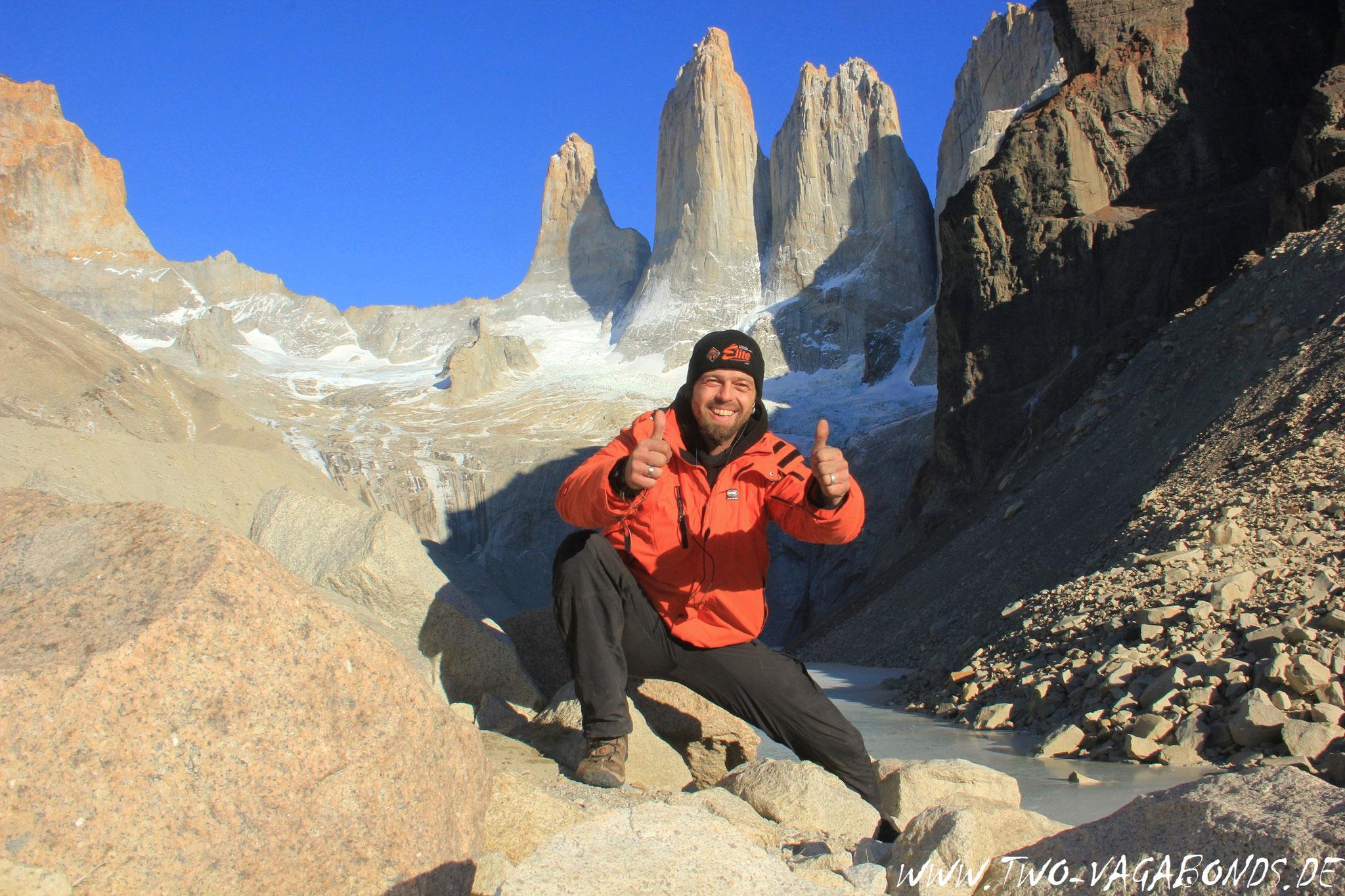 CHILE 2016 - 20 km WANDERUNG ZU DEN TORRES IM TORRES DEL PAINE NP