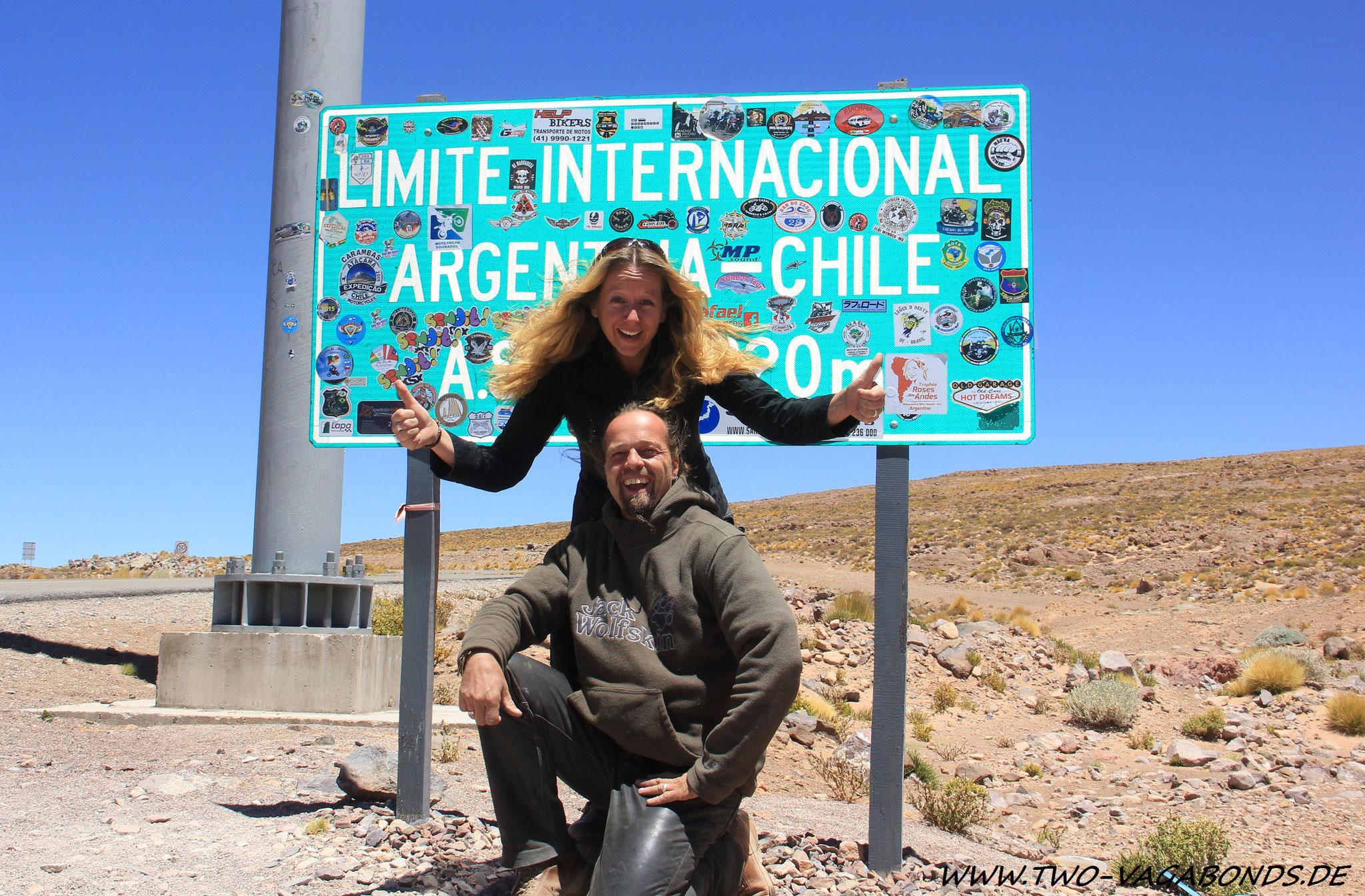 CHILE 2015 - GRENZE ARGENTINIEN/CHILE - PASO DE JAMA