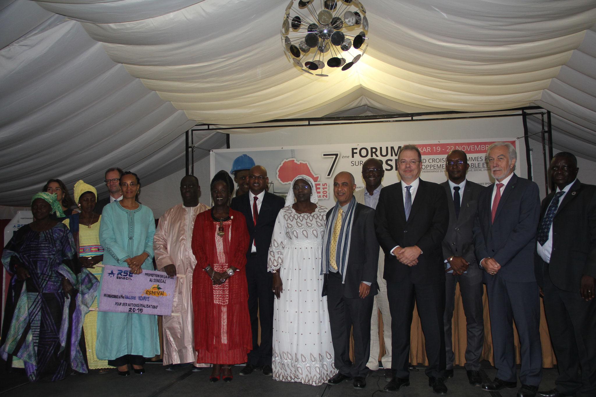 Forum RSE Senegal 2015 : Entreprises RSE distinguées
