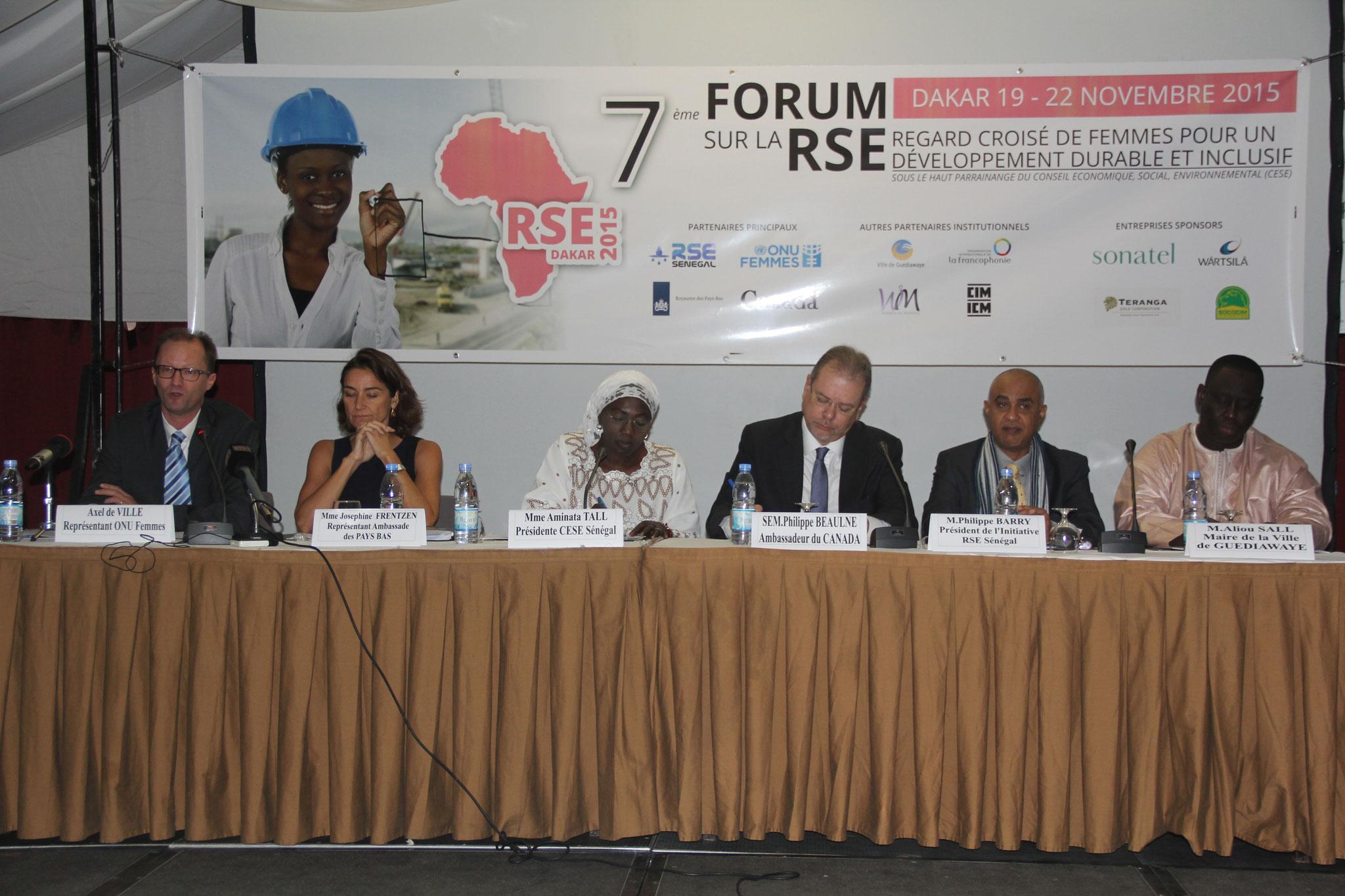 Forum RSE Senegal 2015 : Parrainage du Conseil Economique, Social, Environnemental