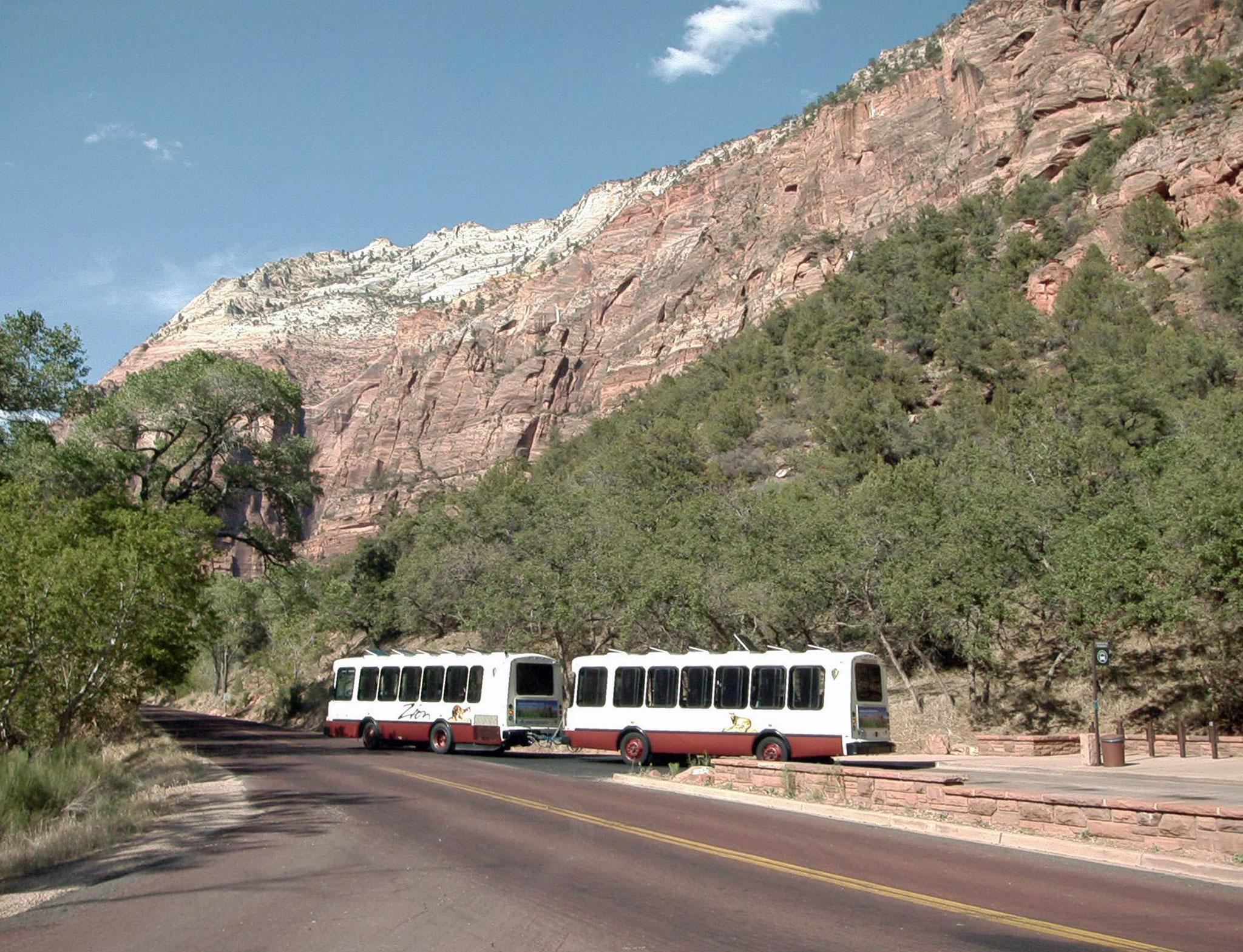 Shuttle Bus im Zion NP