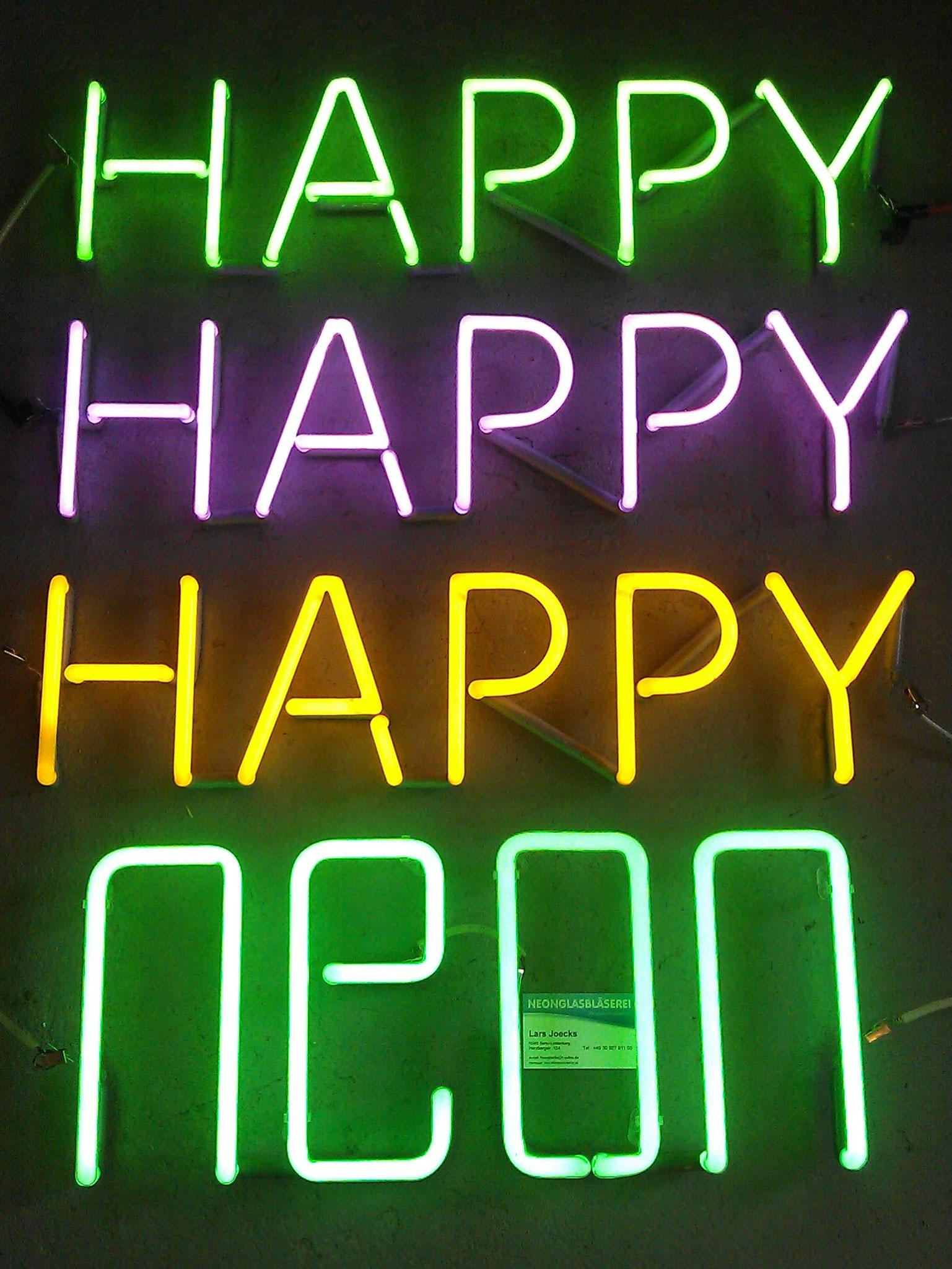 Neonschrift Neon Happy // Neon Berlin