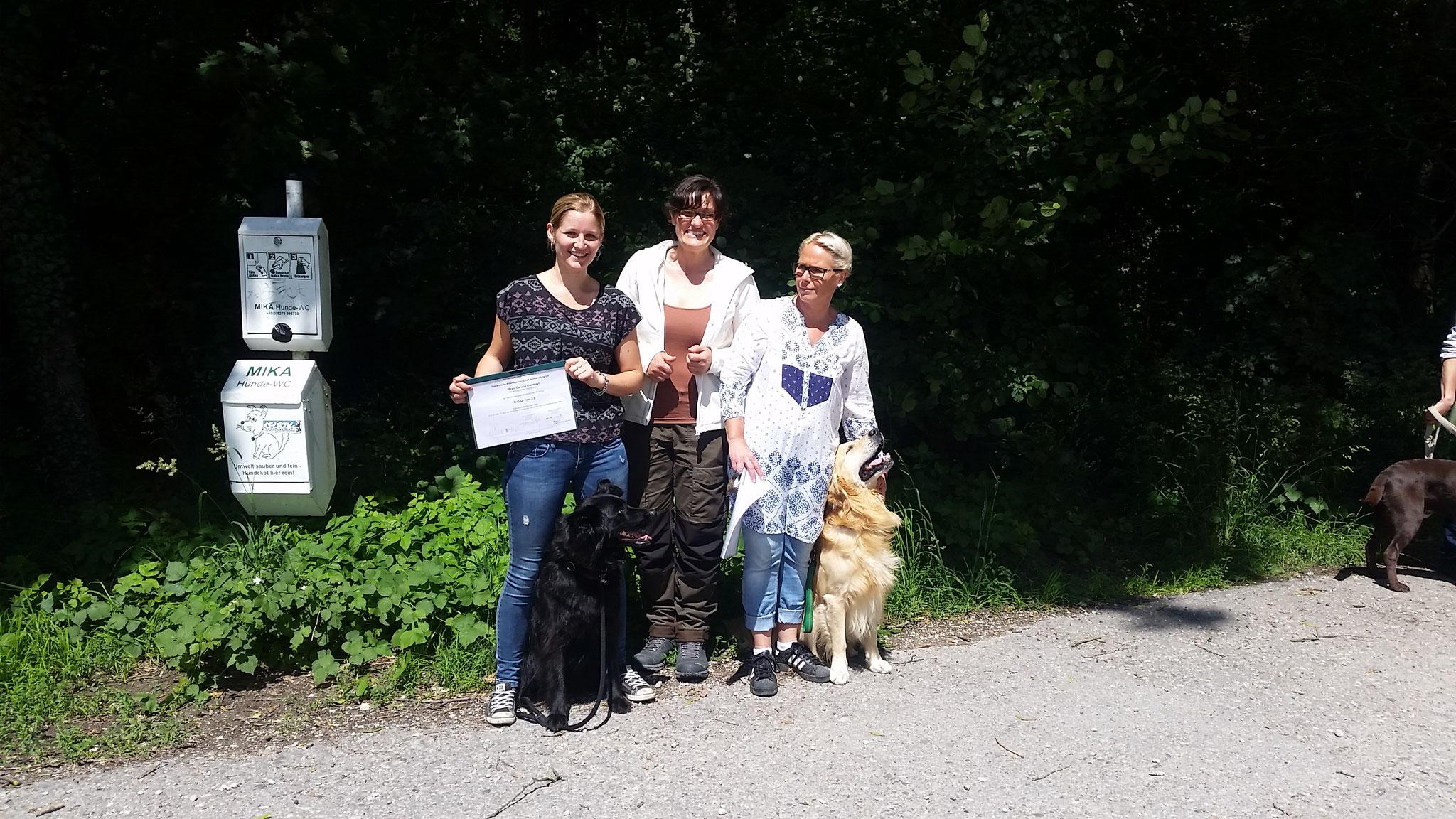 Carolin mit Bonny und Sonja mit Paul