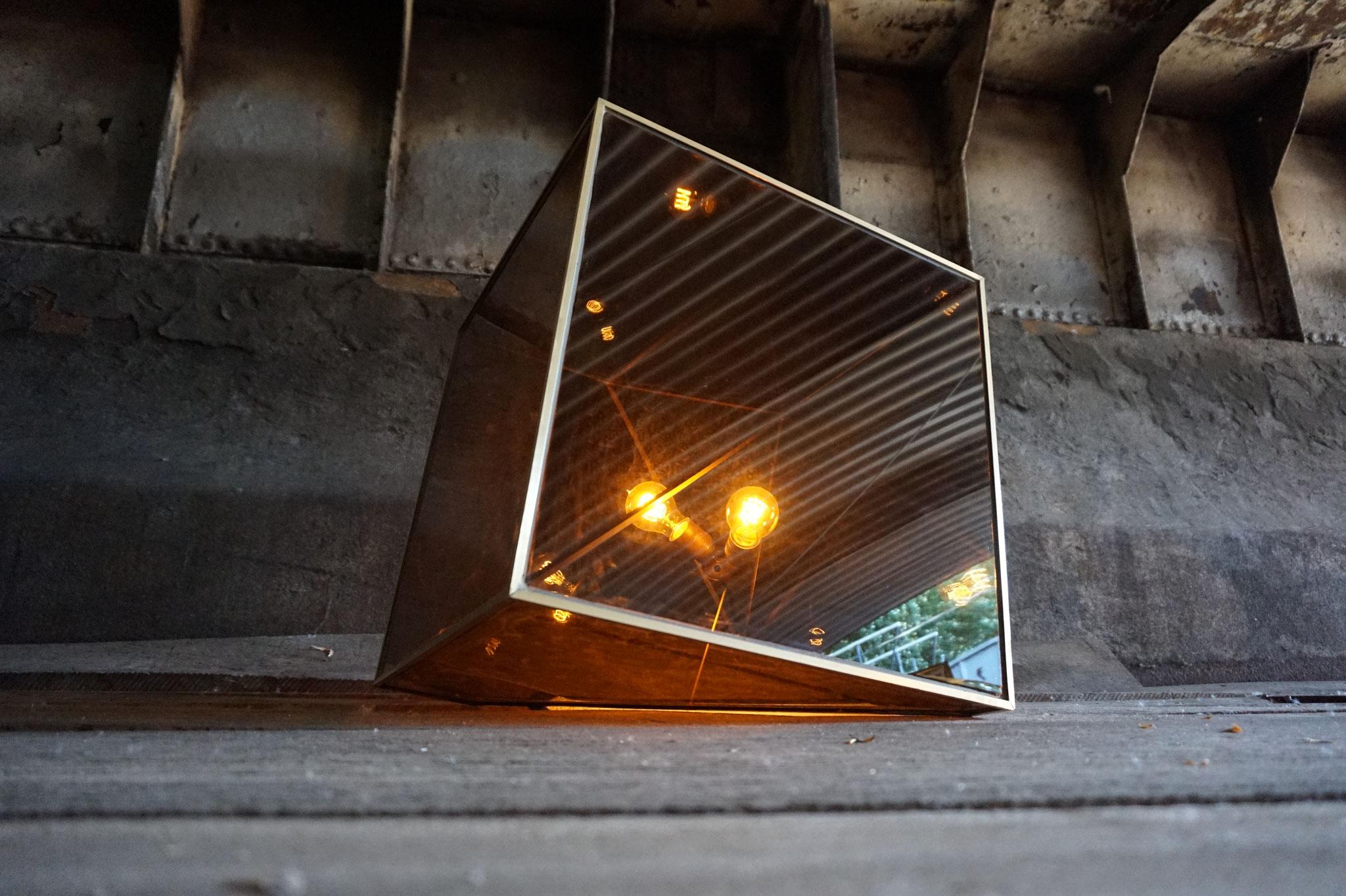 O.No.2 | 50 x 50 x 50 cm | brass, acrylic glass