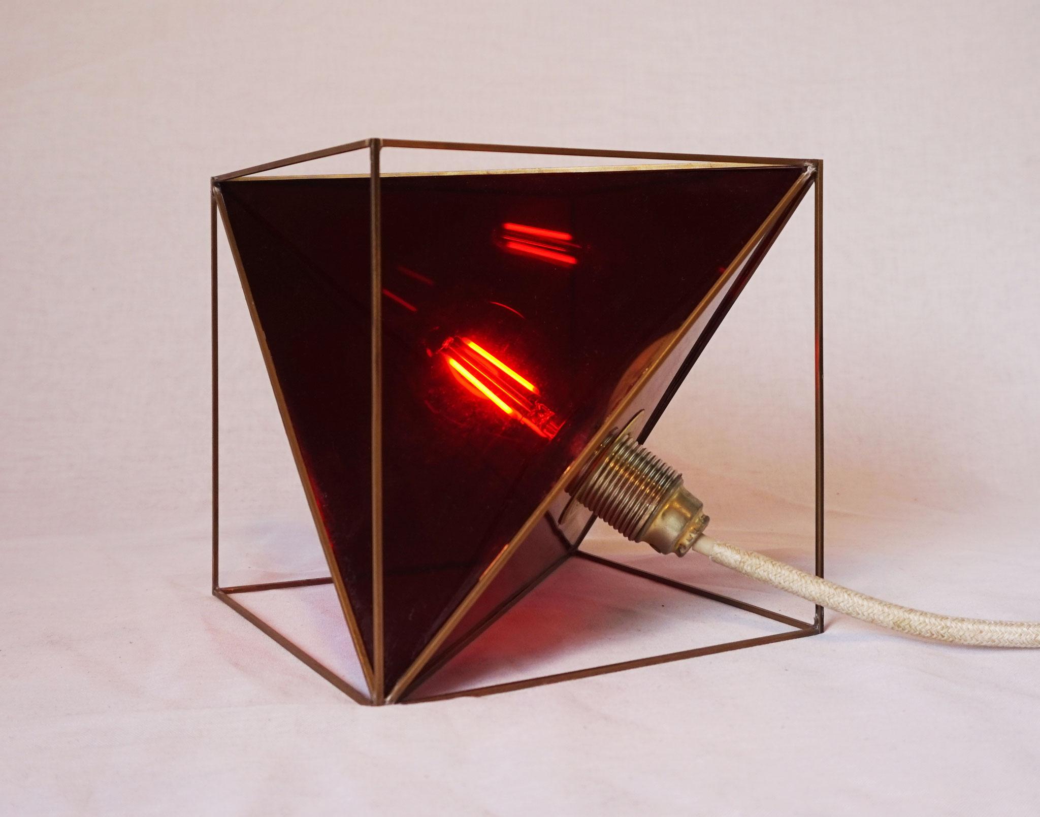 T.No.1   20 x 20 x 20 cm   brass, acrylic glass