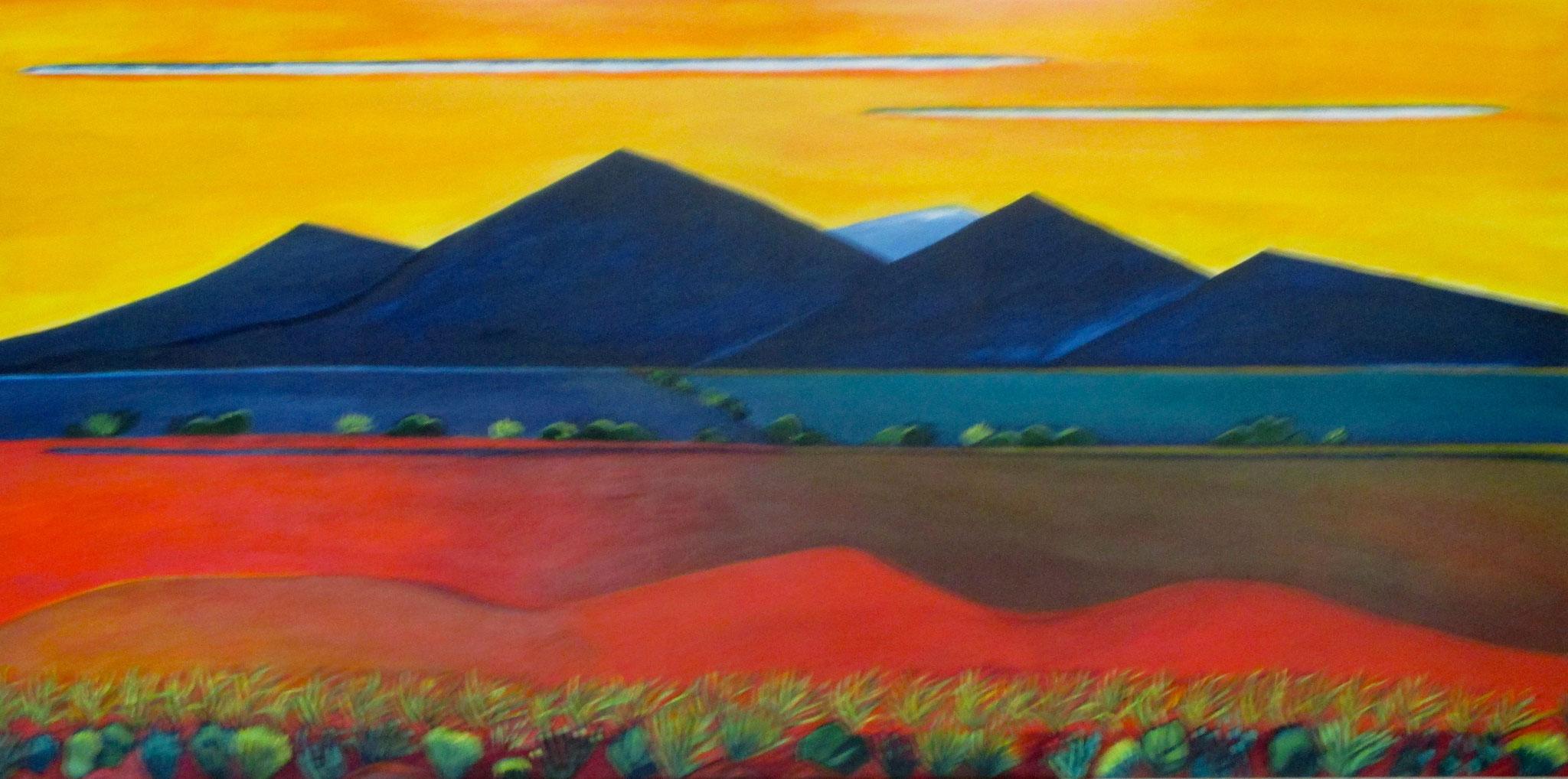 Tiera del Encantato, acrylic on canvas, 48 x 24, SOLD