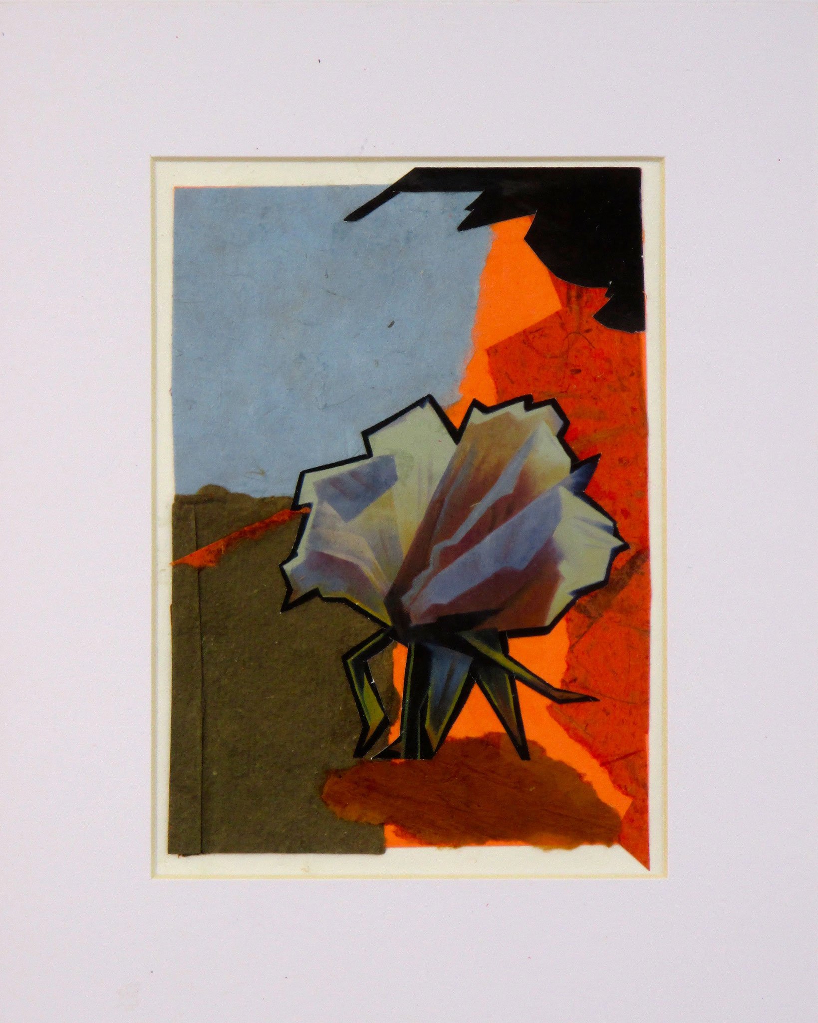Cactus Flower, collage on paper, 8 x 10, 2016 SOLD