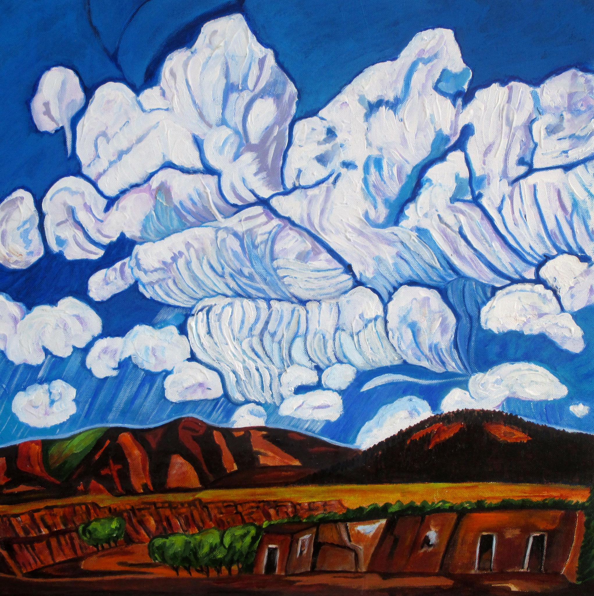 Cloud Dance, acrylic on canvas, 20 x 20, SOLD