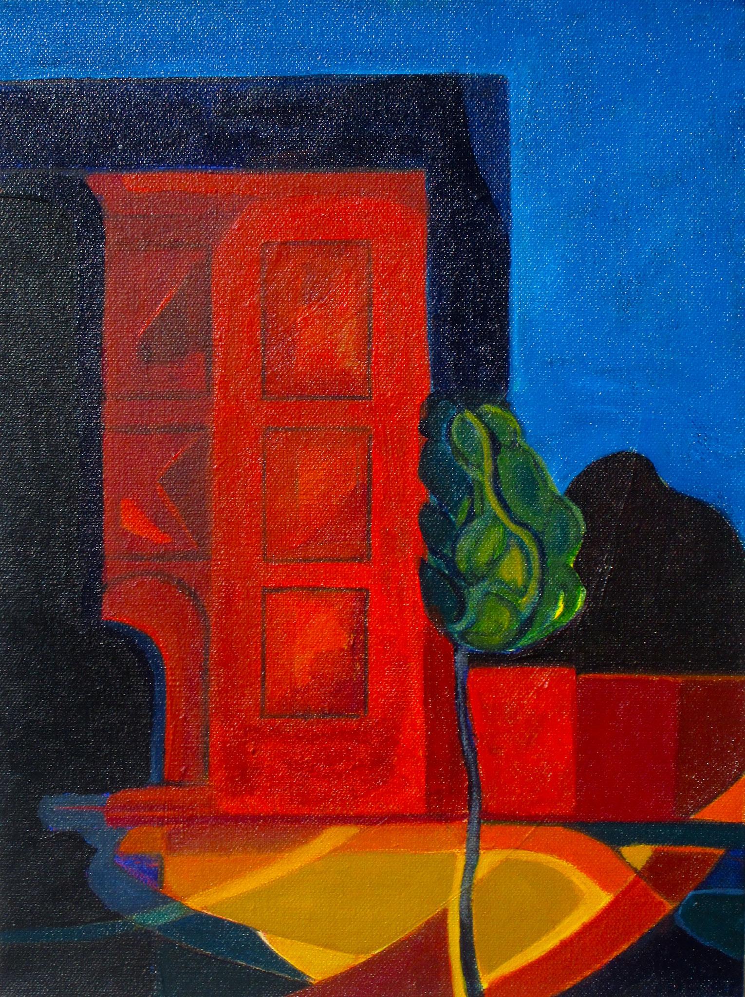 Indigo Night, acrylic on canvas, 12 x 16