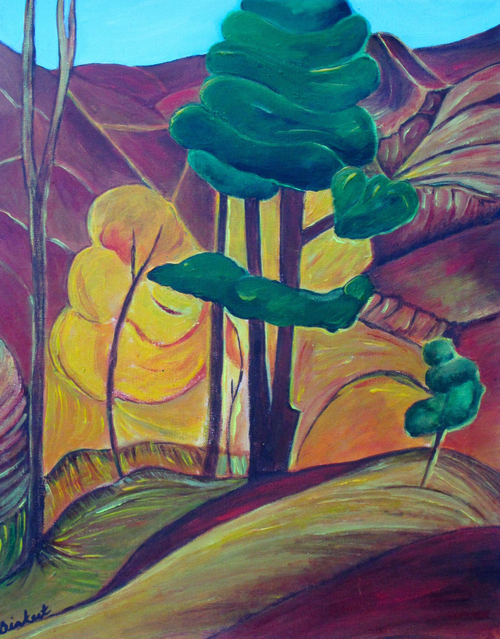 Golden Autumn, acrylic on canvas, 16 x 20, SOLD