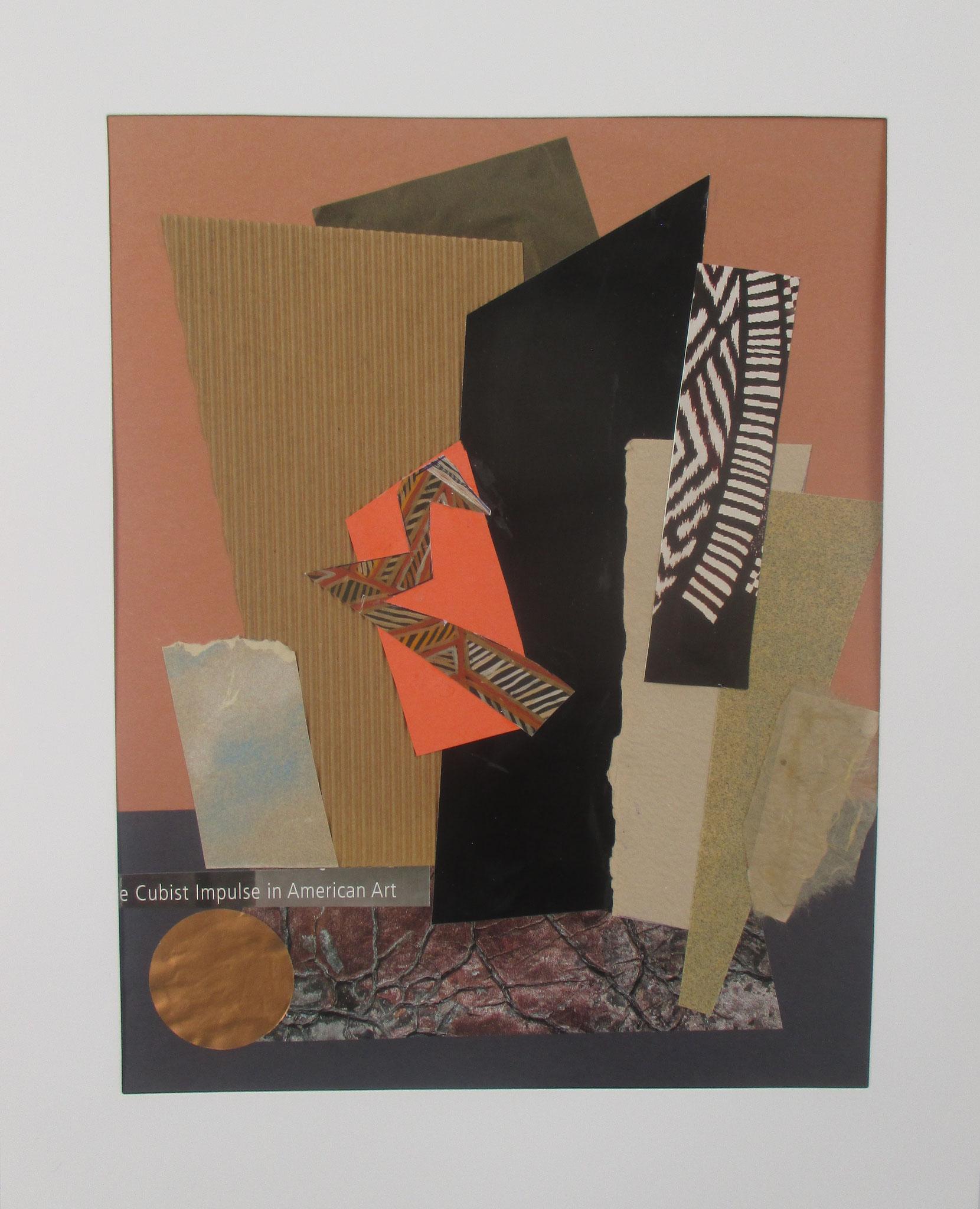 Cubist Impulse, collage on paper, 11 x 14, 2018