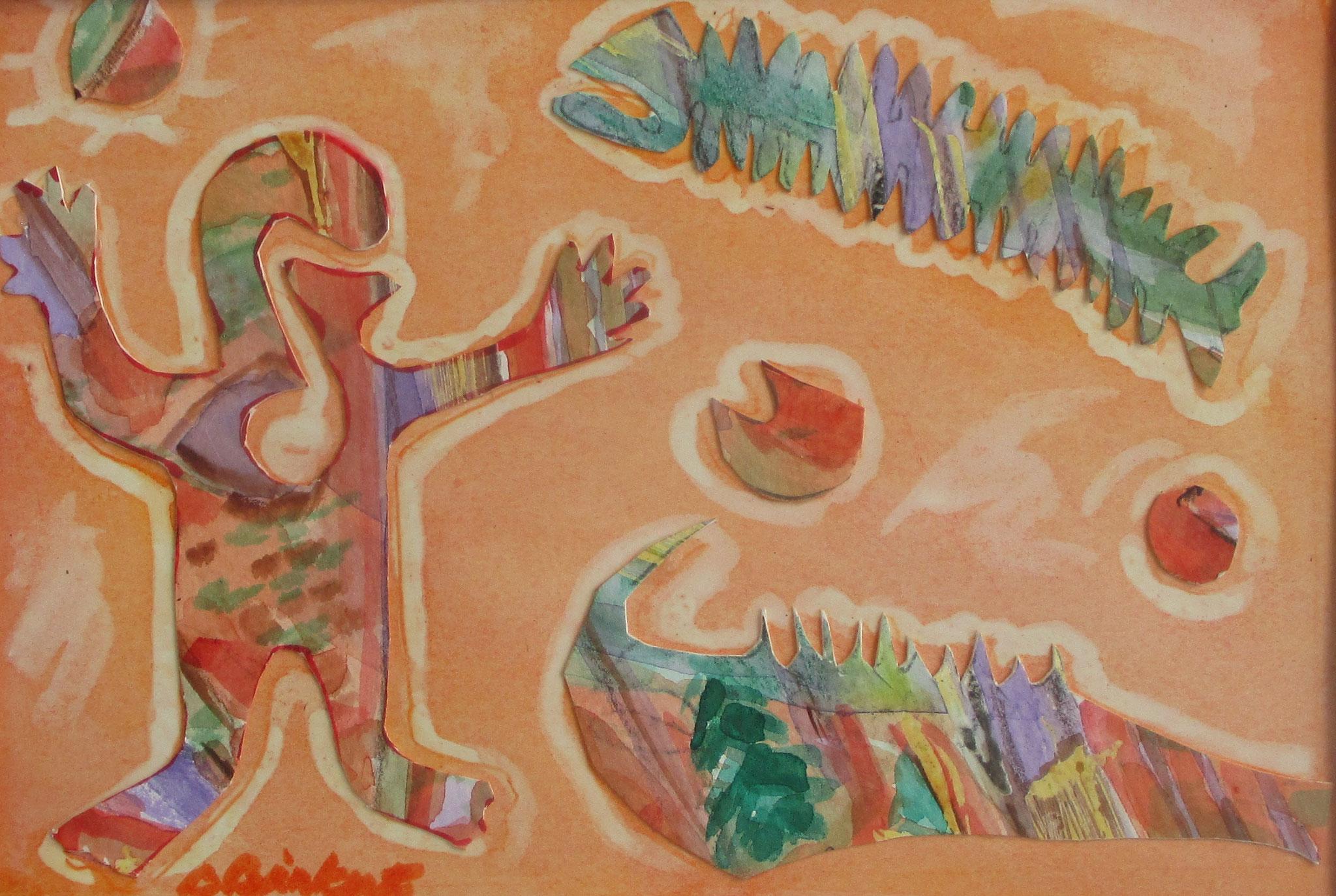 Trickster, watercolor, 11 x 14